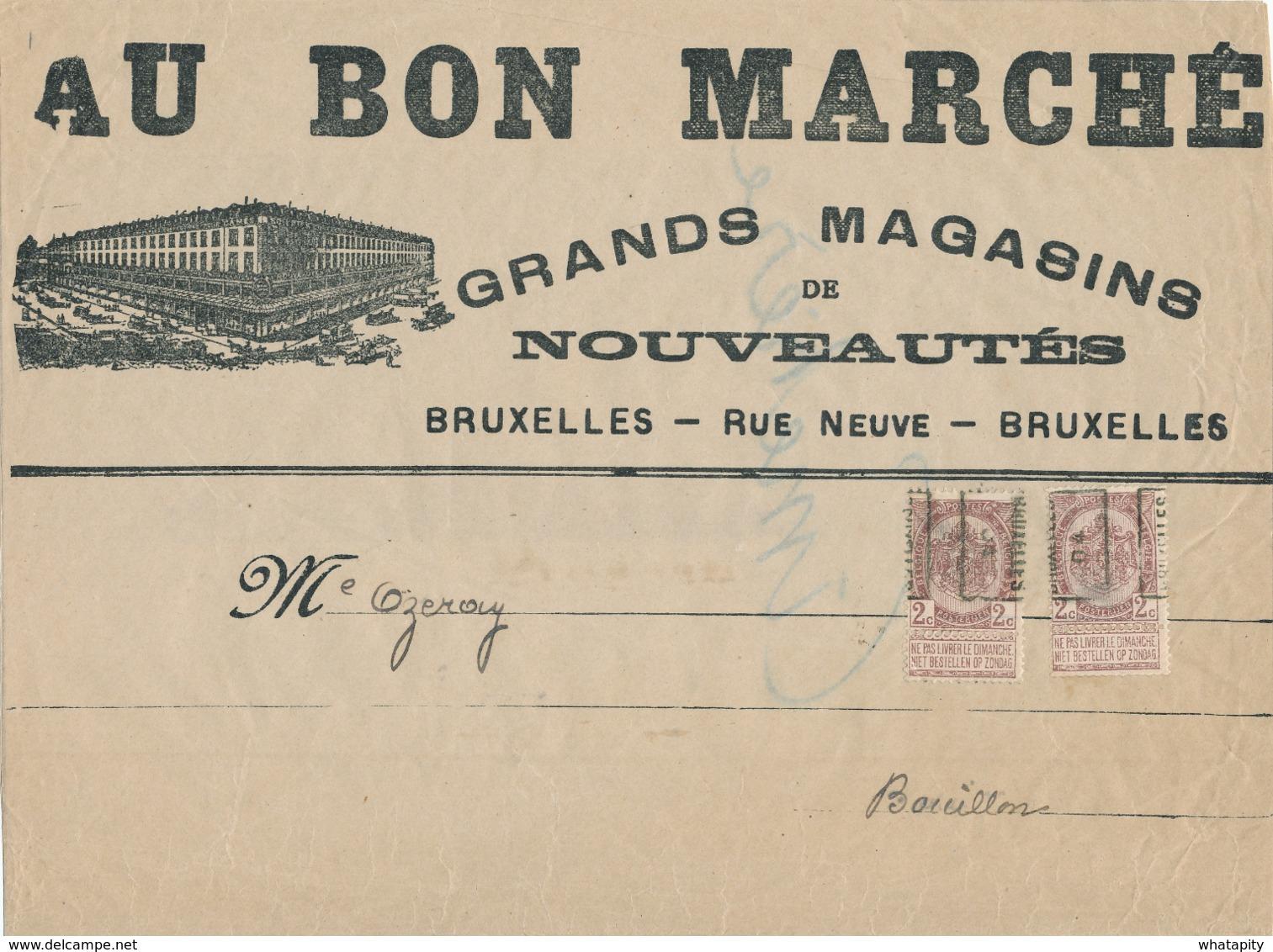 353/30 -- PREO 2 C Roulette BRUXELLES 04 Positions A Et B Sur Bande De Journal  Vers BOUILLON - Precancels