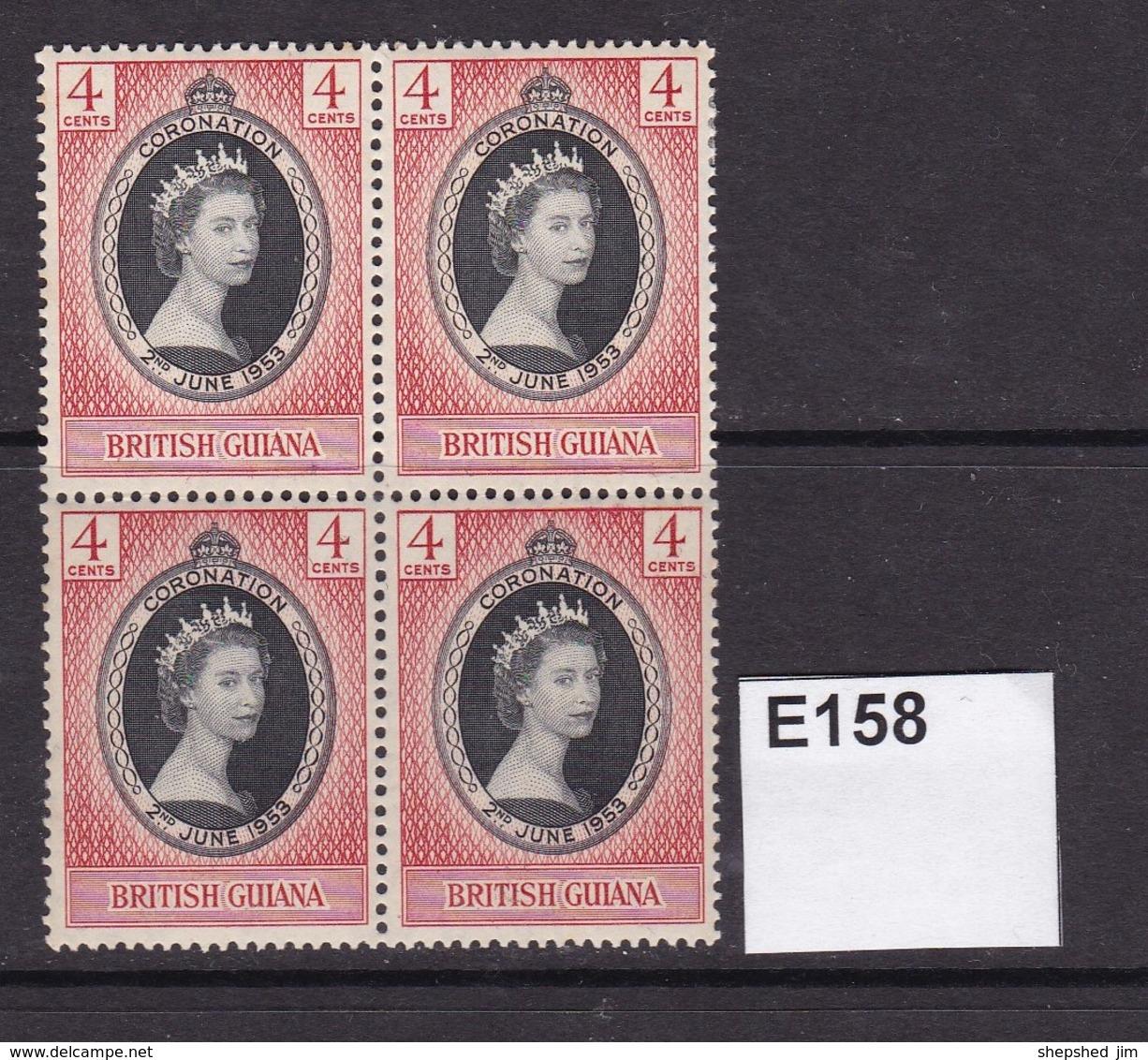 British Guiana 1953 Coronation Block Of 4 (MNH) - British Guiana (...-1966)