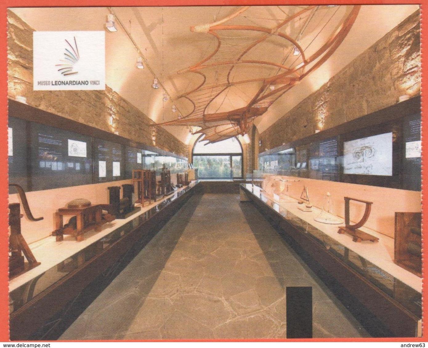 Vinci - Museo Leonardiano - Biglietto D'ingresso Ridotto Soci TCI - Usato - Biglietti D'ingresso