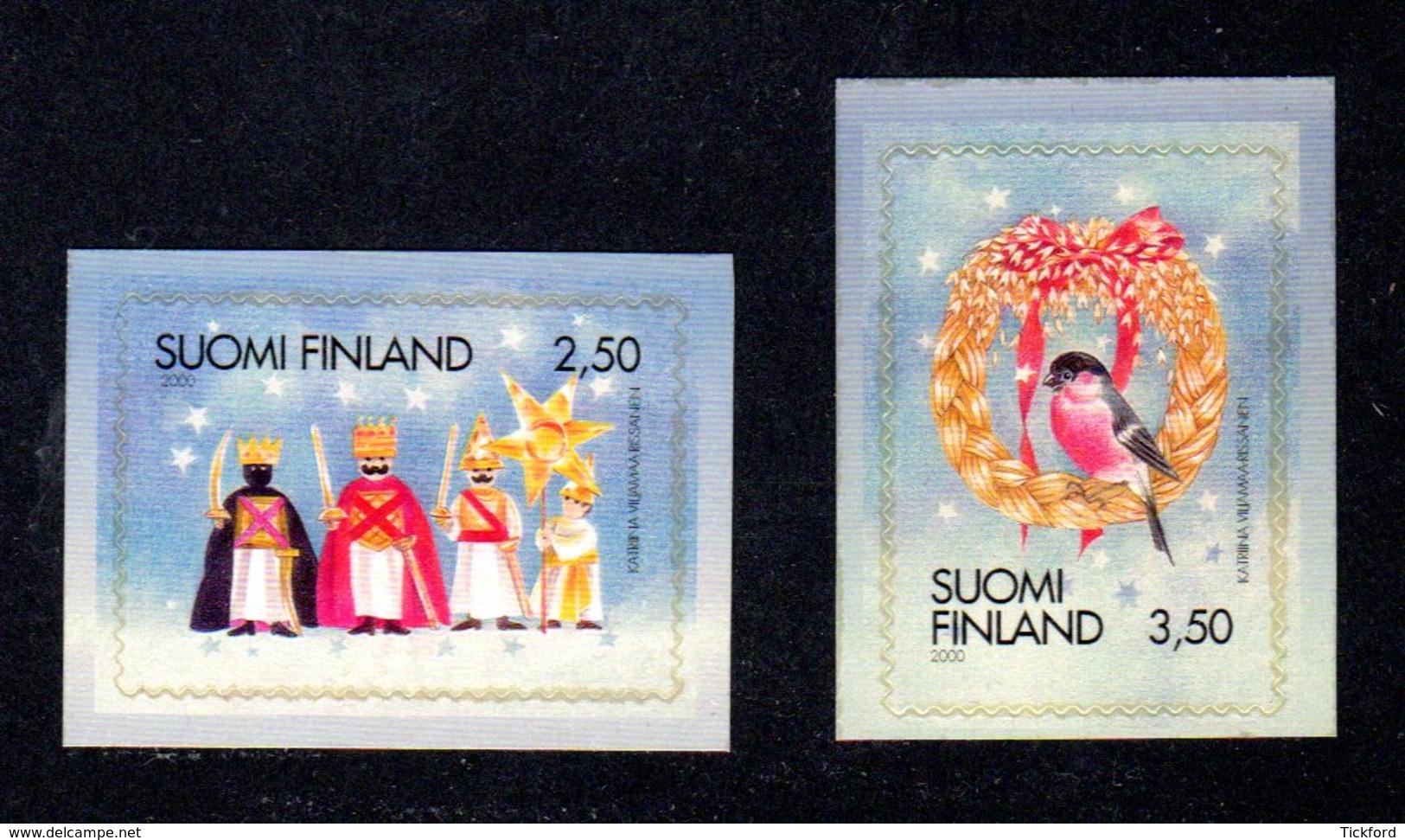 FINLANDE 2000 - Yvert N° 1509/1510 - Facit 1544/1545 - NEUF** MNH - Noël - Finland