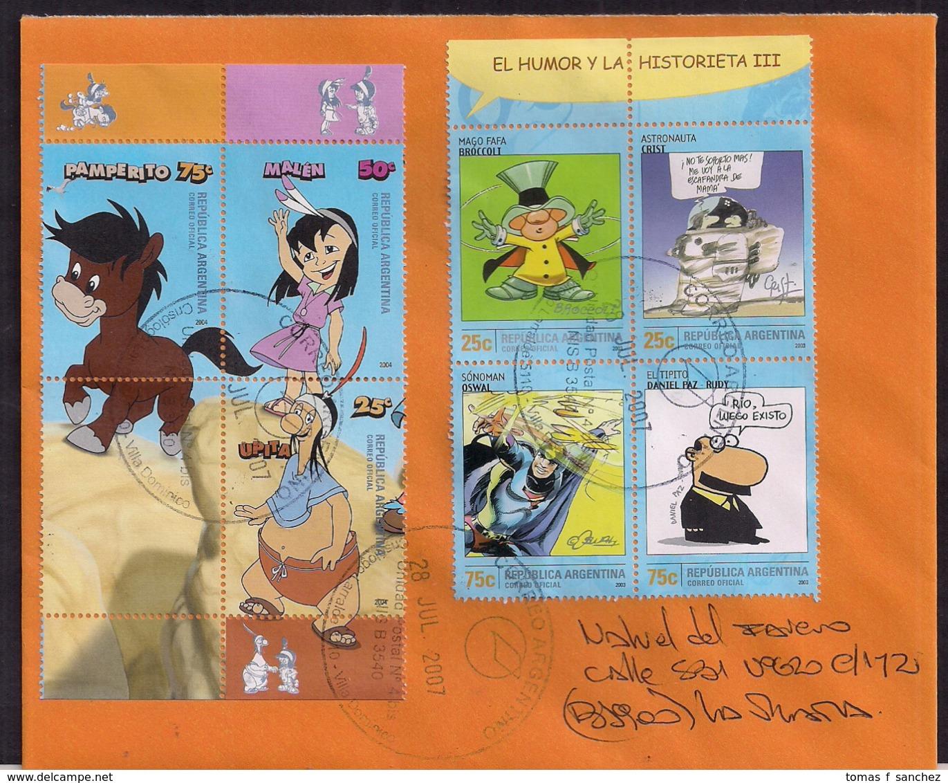 Argentina - 2007 - Lettre - Bandes Dessinées - Comics - Argentinien