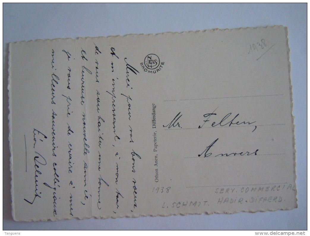 Differdange Monument Emile Mark 1938 Nels Edit Othon Anen Papeterie, Attention Tient Un Grand Pli. - Differdingen