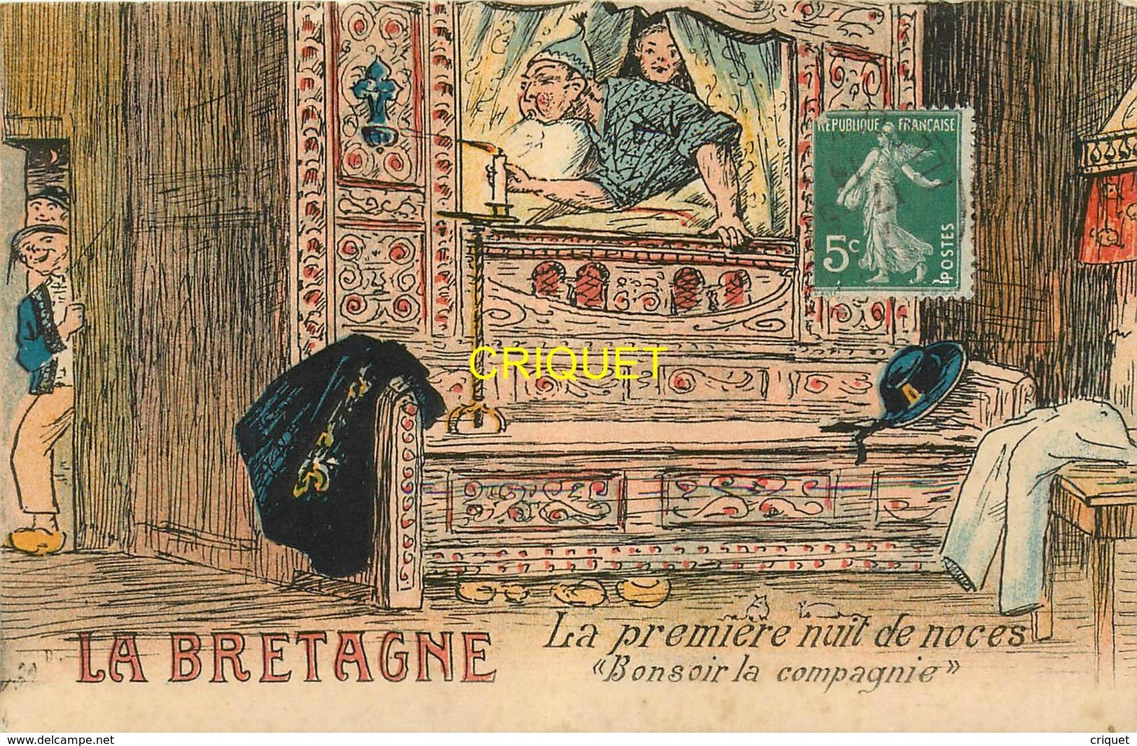 La Bretagne, Ancienne Série Des éditions Nozais, La Première Nuit De Noces, N° 32 D - Bretagne