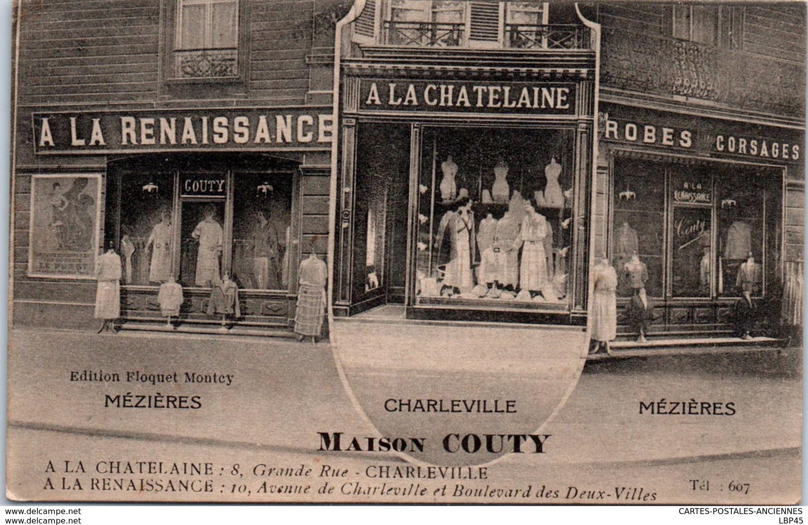 08 MEZIERES - Carte De A Maison COUTY (vêtements) - Other Municipalities
