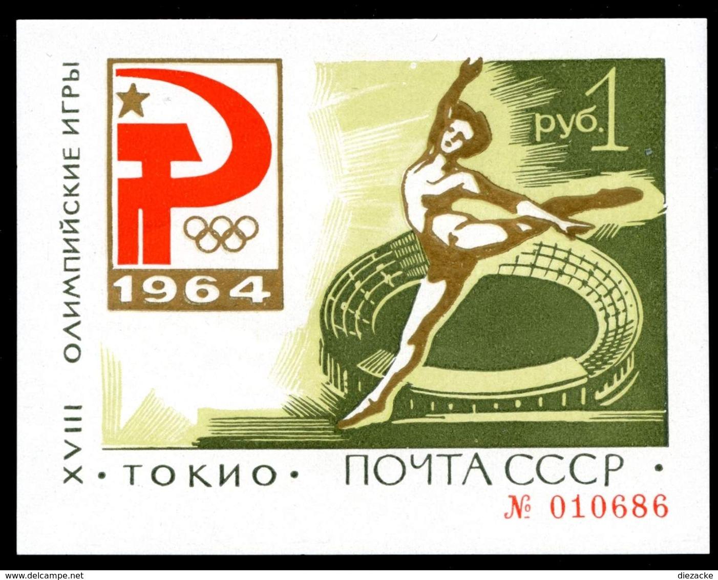 Sowjetunion MiNr. Block 33 Postfrisch MNH Olympiade 1964 Tokio (Oly2064 - Russland & UdSSR