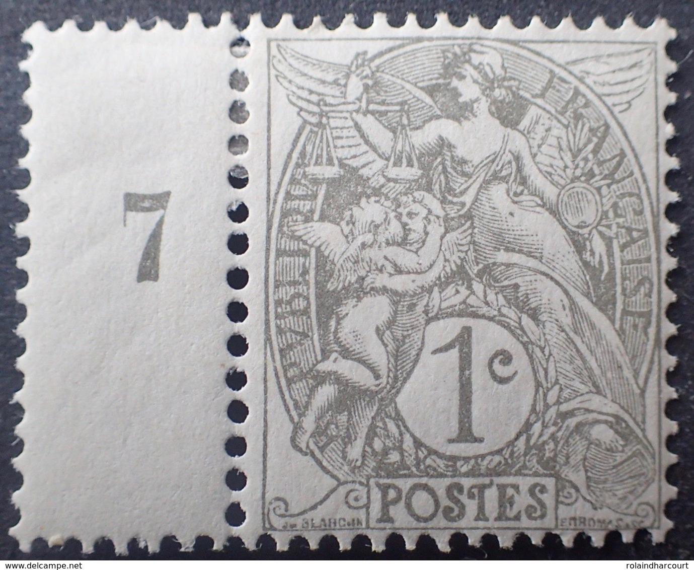 DF50478/680 - 1900 - TYPE BLANC - N°107 NEUF* Mill.7 - 1900-29 Blanc