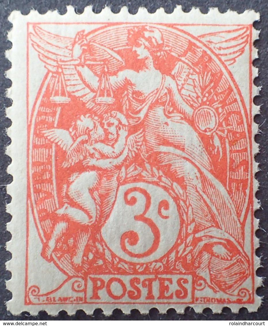 DF50478/687 - 1900 - TYPE BLANC - N°109a (IB) Rouge Orange NEUF** - 1900-29 Blanc