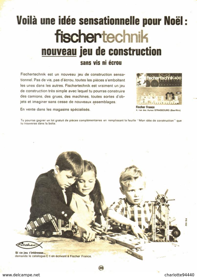 """PUB  JEUX  """" FISCHERTECHNIK 1966 (1) - Figures"""