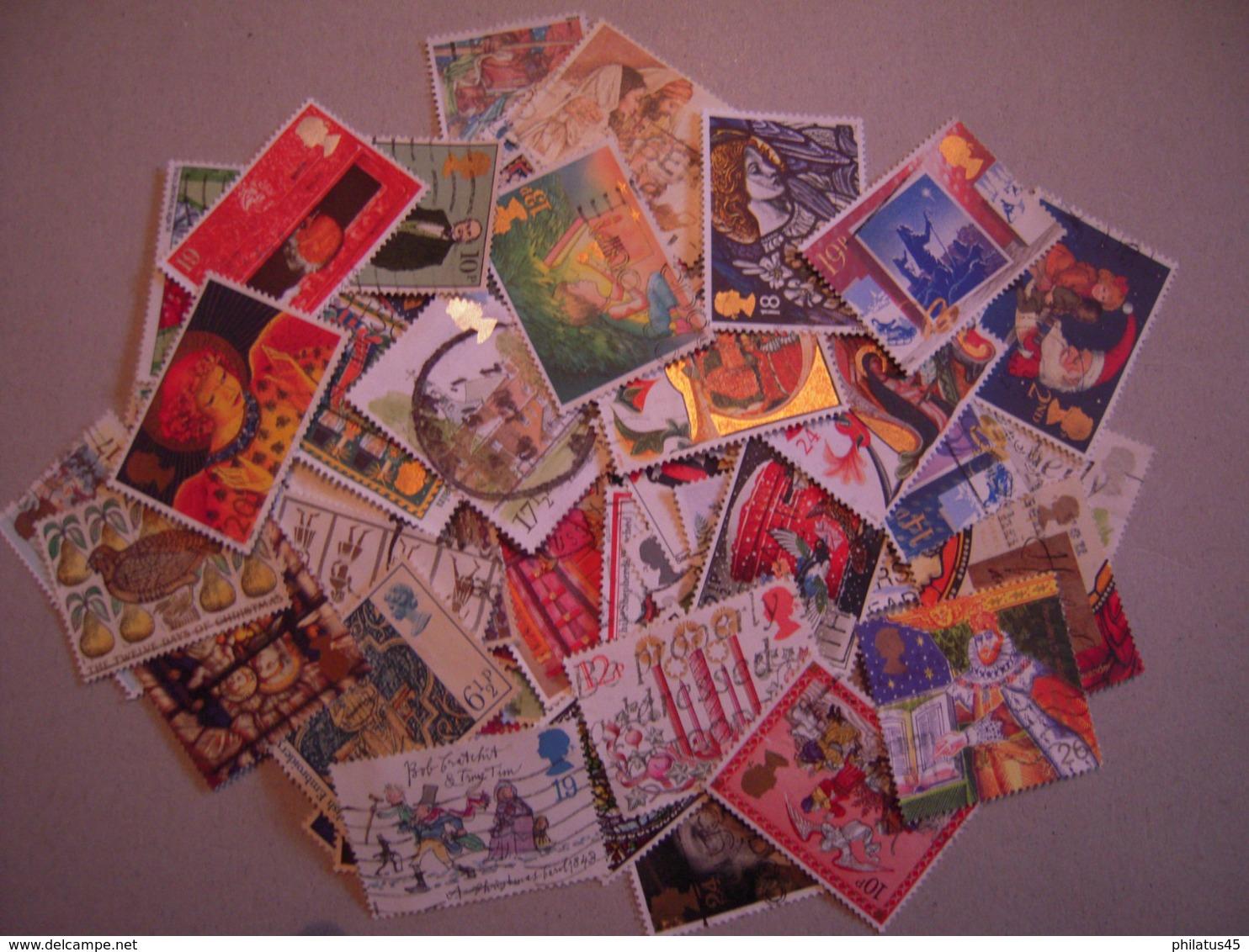 GRANDE BRETAGNE  LOT DE 100 TP OBLITERES TOUS DIFFERENTS - Colecciones Completas