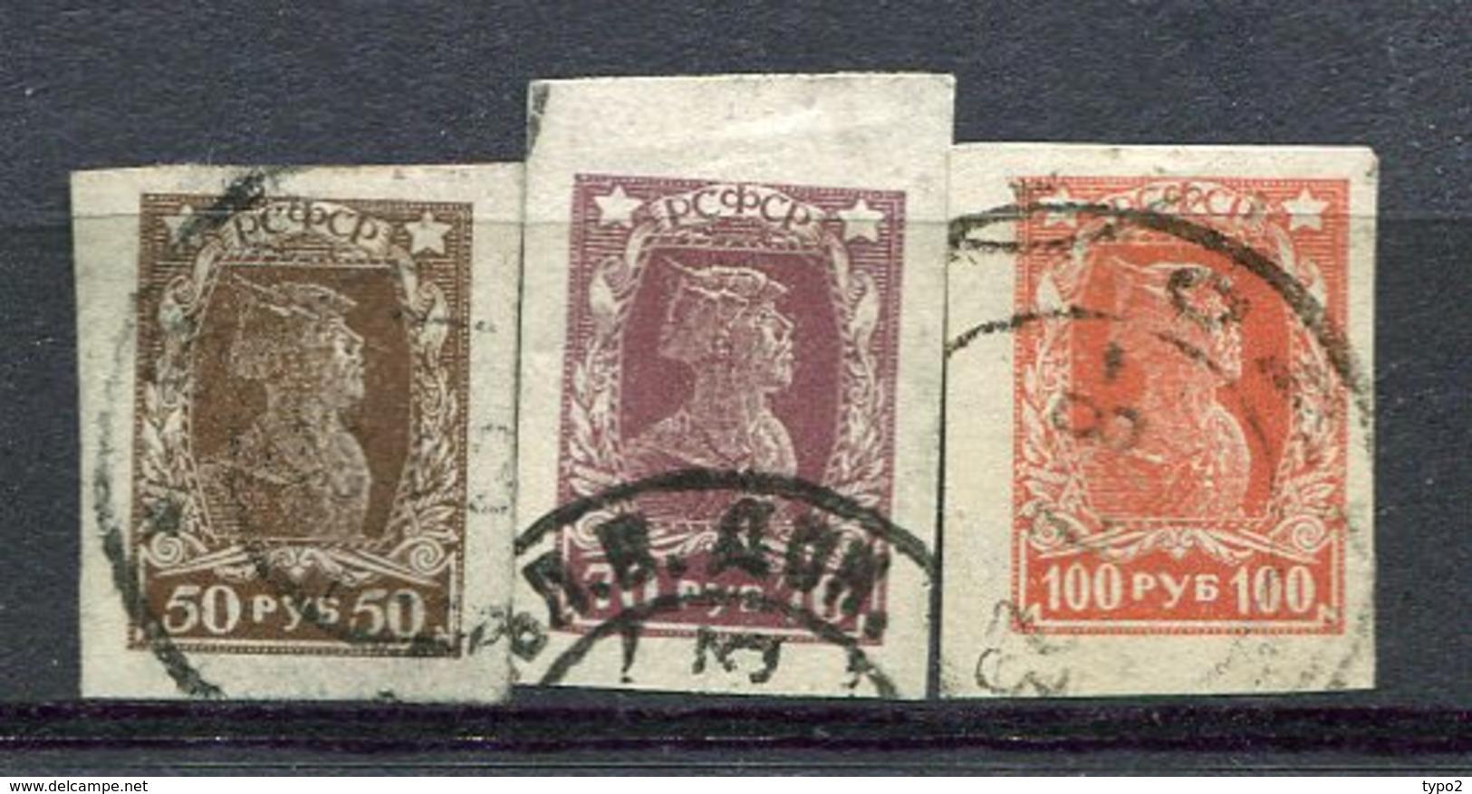 RUSSIE - Yv N° 202 à 204 ,(o), ND,  Ouvriers, Soldats Cote 0,9  Euro  BE  2 Scans - 1917-1923 République & République Soviétique