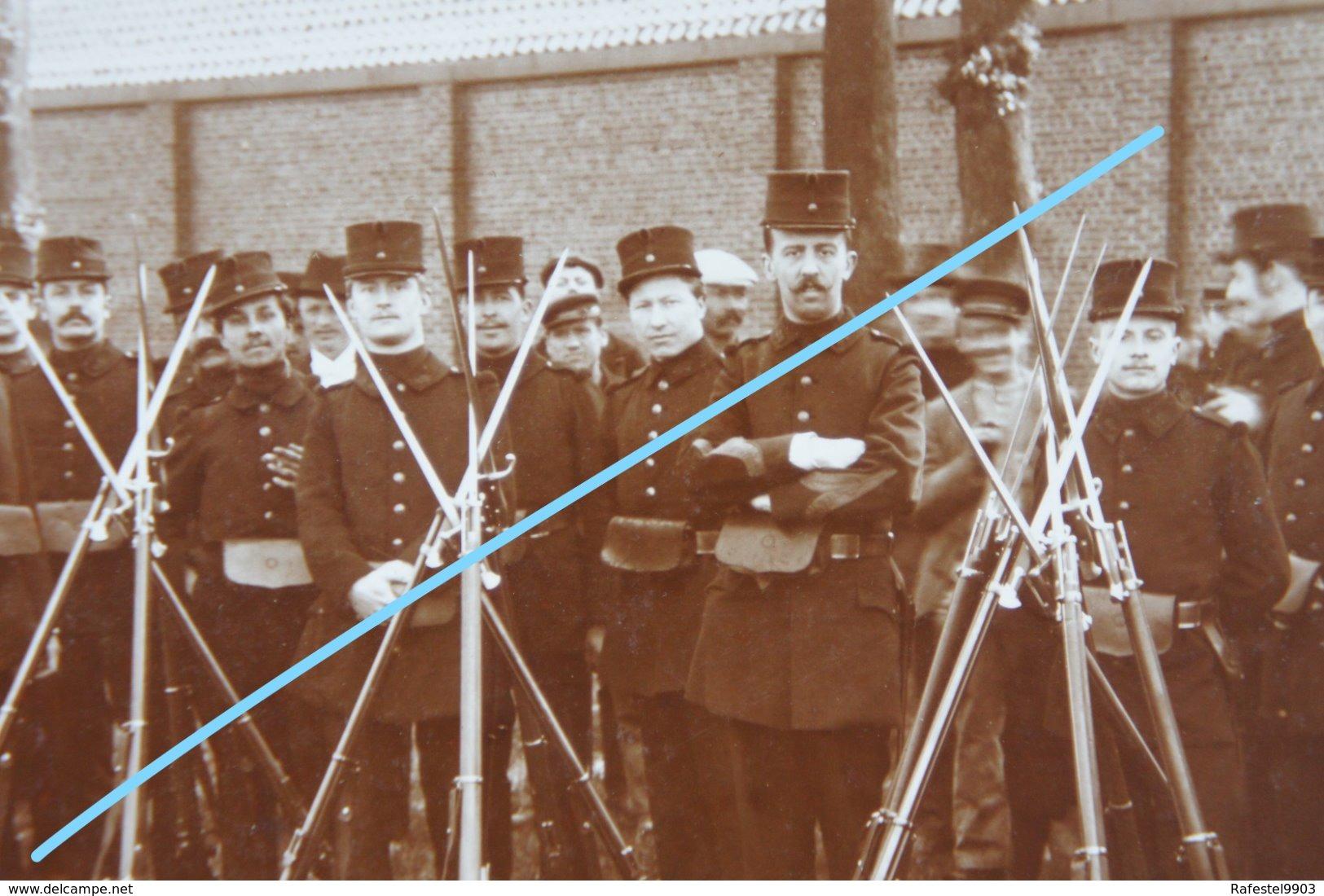 Photox6 ABL Infanterie Belge Exercice De Tir Fusil Fin 19è Début 20è S Militaria Armée Belge Belgische Leger Soldat - Photos