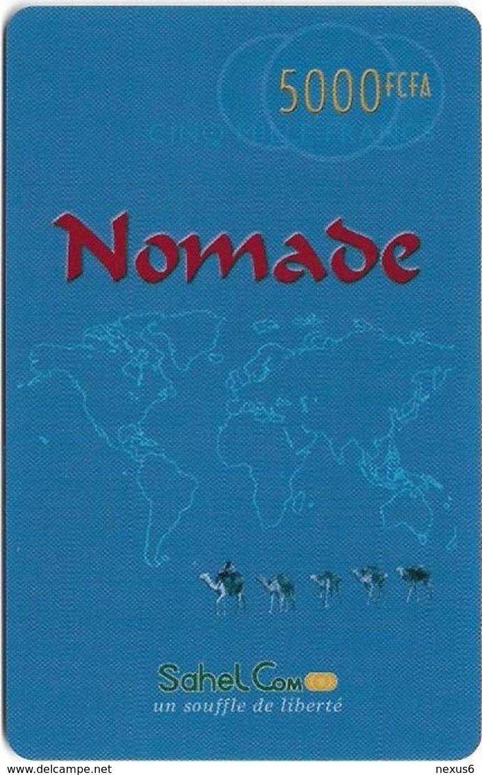 Niger - Sahel Com - Nomade, Map Blue, Prepaid 5.000Fcfa, Exp.03.10.2003, Used - Niger