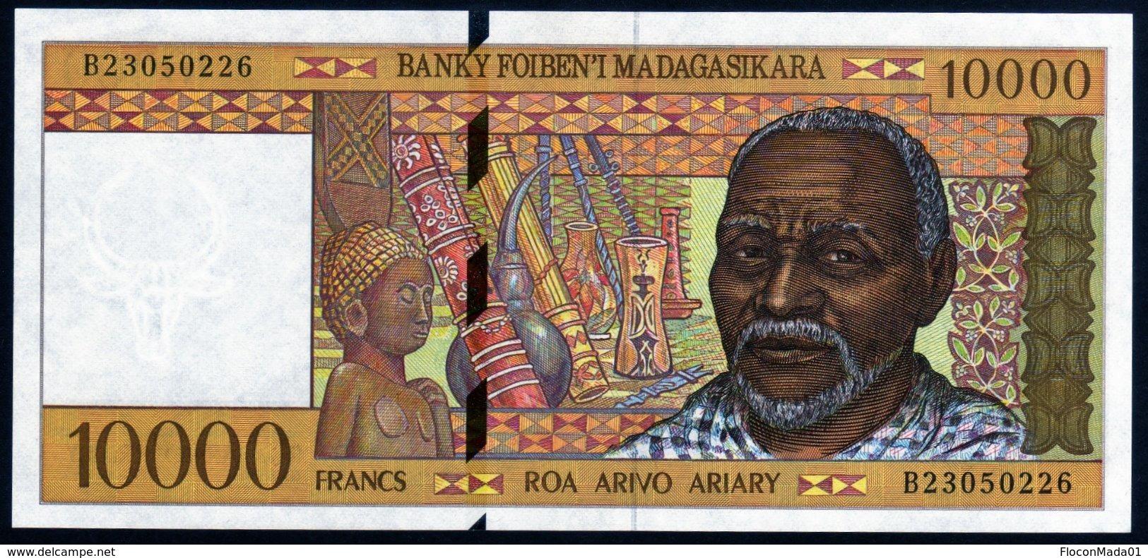 Madagascar 1998 10000 Francs  UNC   Neuf  Parfait - Madagascar
