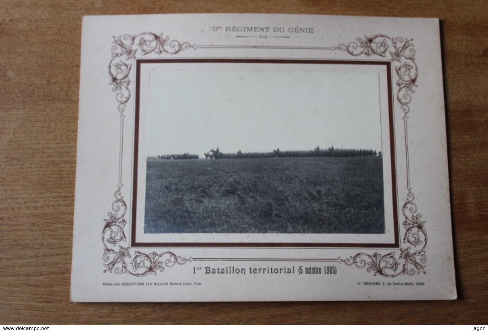 Serie 1 Er Bataillon Territorial 1905 3 Eme Régiment Du Génie  Photographie Militaire - Guerra, Militari
