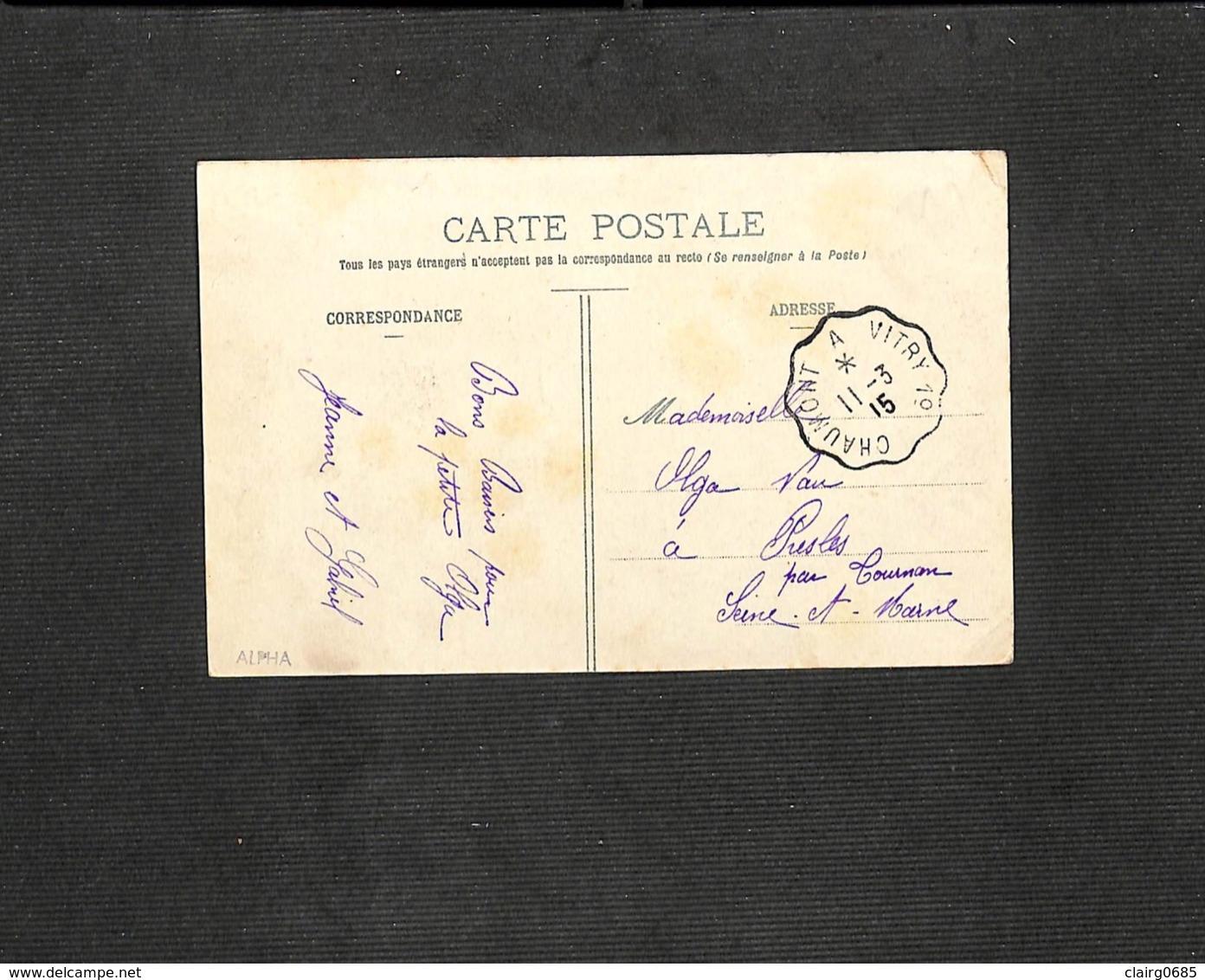 52 - DONJEUX - Cour De La Cimenterie - 1915 - Autres Communes