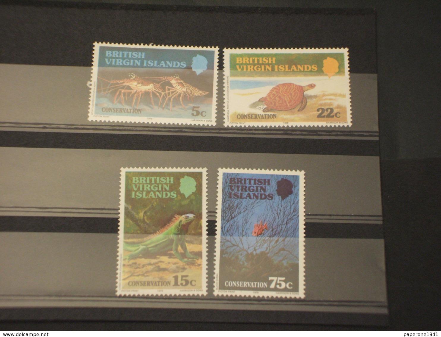 VIRGIN - 1978 FAUNA MARINA  4 VALORI  - NUOVI(++) - British Virgin Islands
