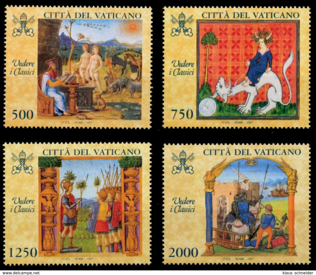 VATIKAN 1997 Nr 1210-1213 Postfrisch S01610A - Vatican