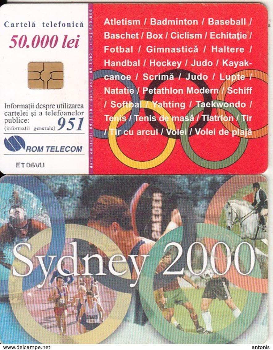 ROMANIA(chip) - Sydney 2000 Olympics, Chip GEM3.3, 09/00, Used - Sport
