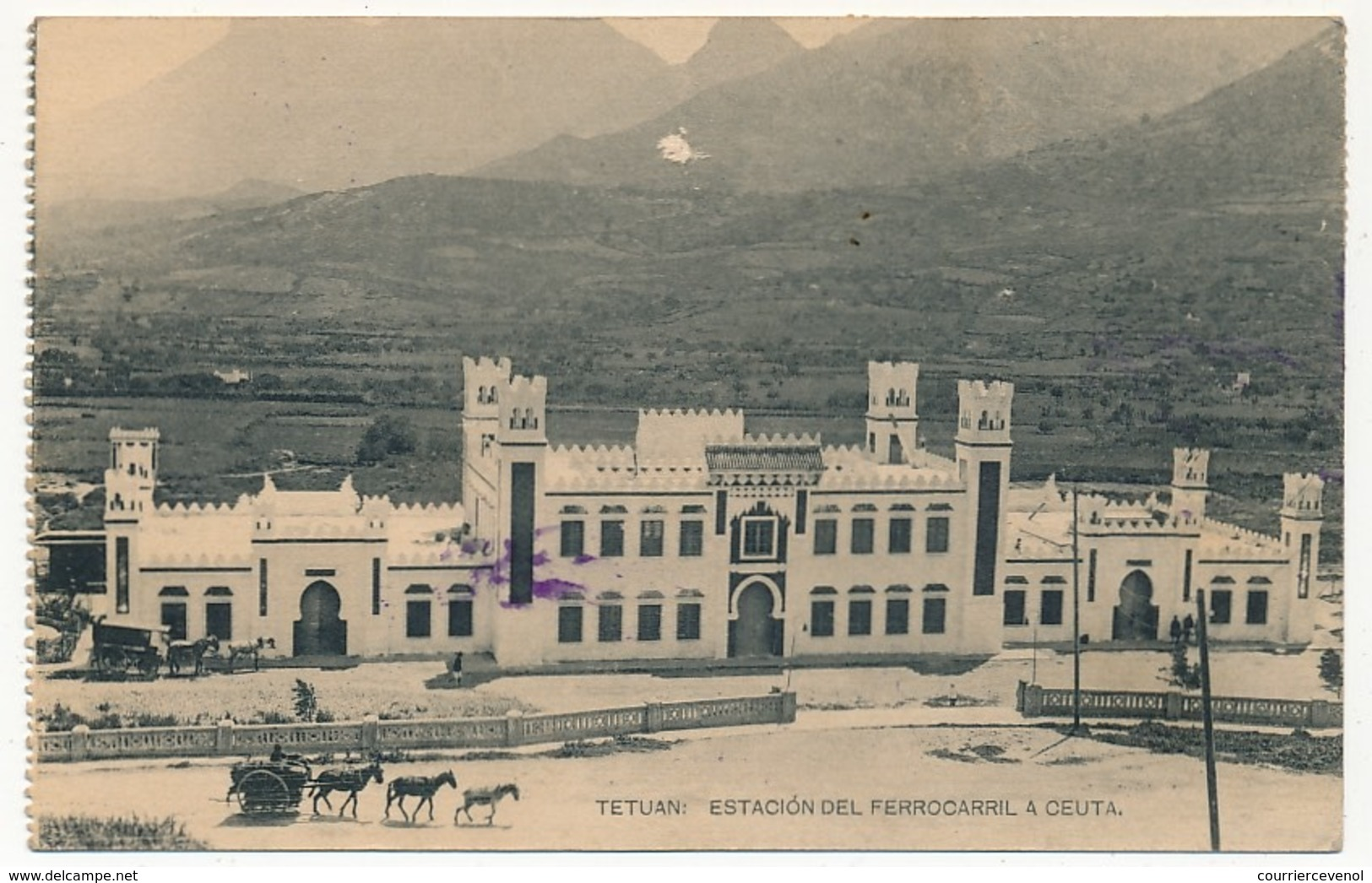 "MAROC ESPAGNOL - Carte Postale Affr. Composé TP Surchargés ""Zona Protectorado Espanol"" TETUAN 1926 - Spanish Morocco"