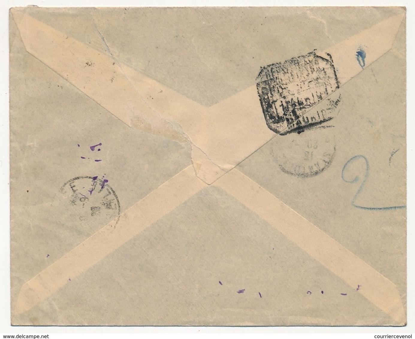 "MAROC ESPAGNOL - Enveloppe Reco. Affr. Composé TP Surchargés ""Zona Protectorado Espanol"" LARACHE 14 Sep 1926 - Spanish Morocco"
