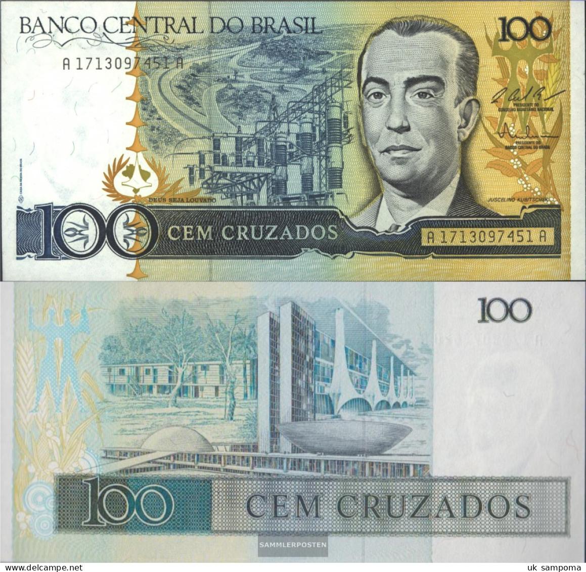 Brazil Pick-number: 211c Uncirculated 1987 100 Cruzados - Brazil