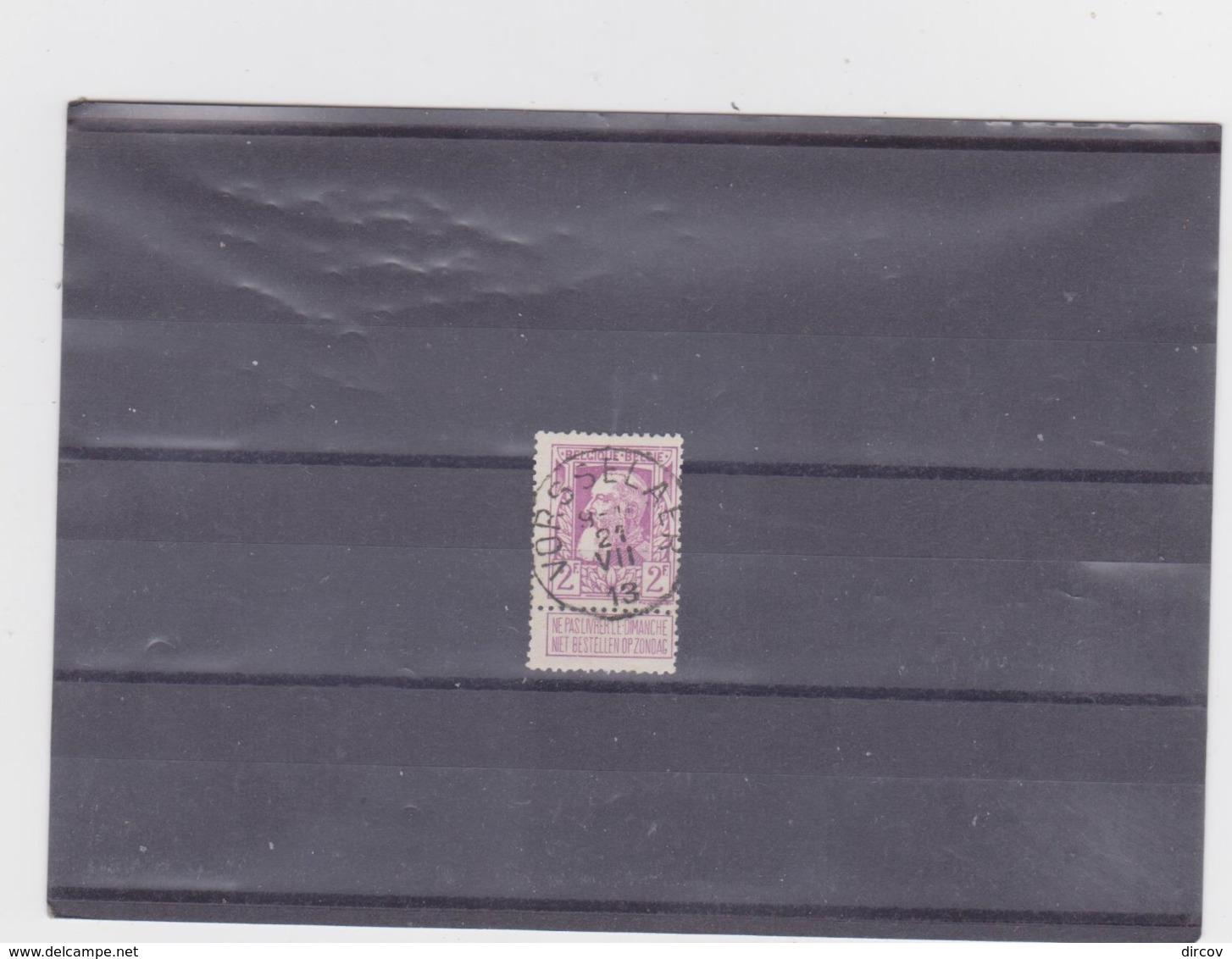 Belgie Nr 80 Vorsselaer - 1905 Breiter Bart