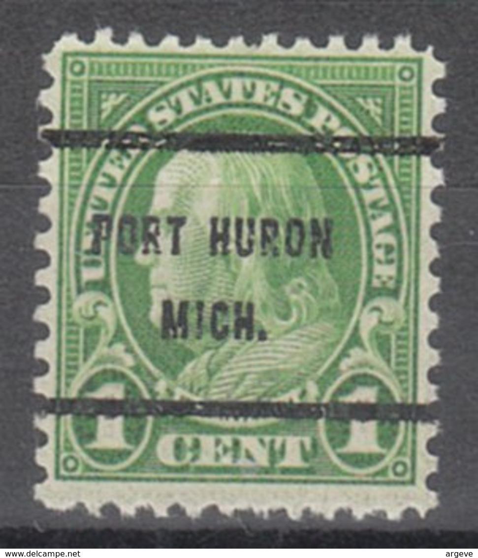 USA Precancel Vorausentwertung Preo, Bureau Michigan, Port Huron 632-61 - Vorausentwertungen