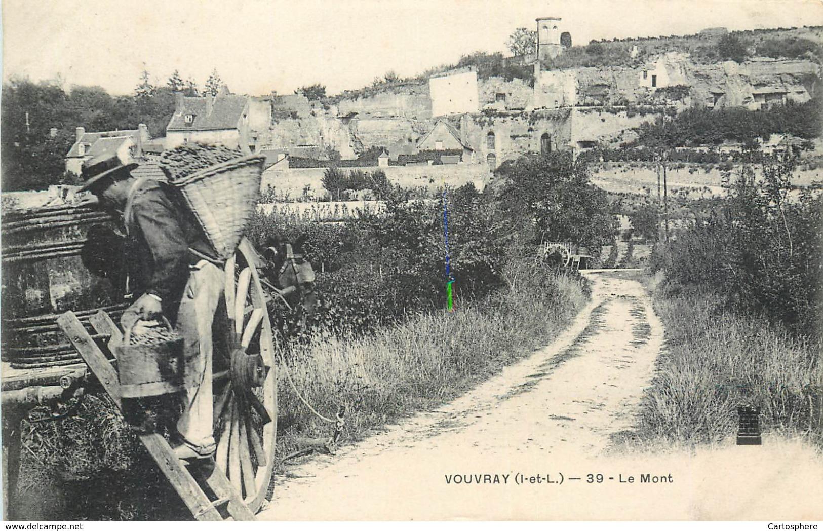 CPA 37 Indre Et Loire Vouvray Le Mont Vendanges Vendangeur Hotte Vignes Vin - Vouvray
