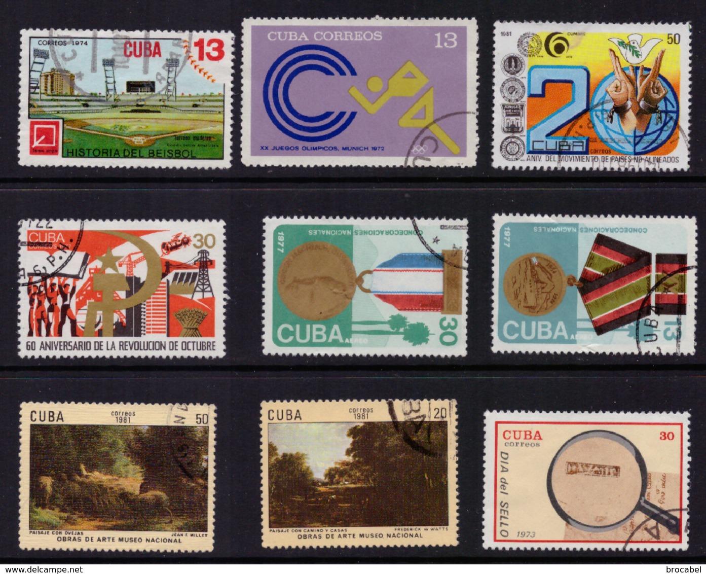 Cuba LOT**/*/ (o)  +- 400 Timbres Départ 1€ ! ! ! - Oblitérés