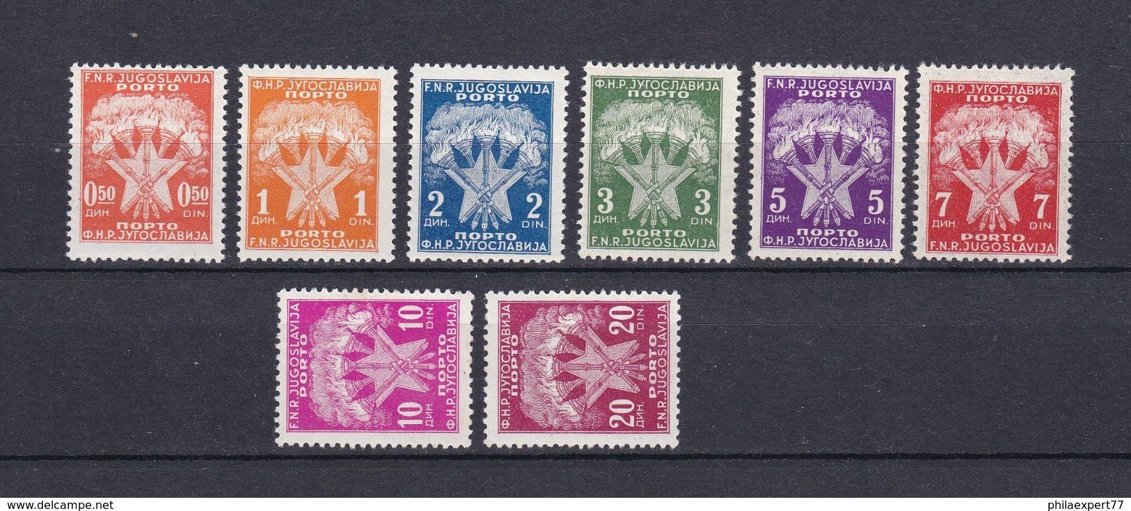 Jugoslawien - Portomarken - 1946 - Michel Nr. 89/96 - Postfrisch - 1945-1992 Sozialistische Föderative Republik Jugoslawien