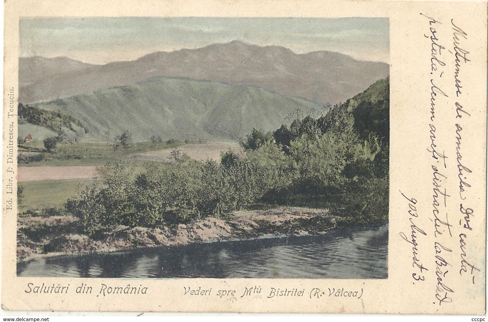 CPA Roumanie Salutari Din Romania Vederi Spre Mtu Bistriteï - Roemenië