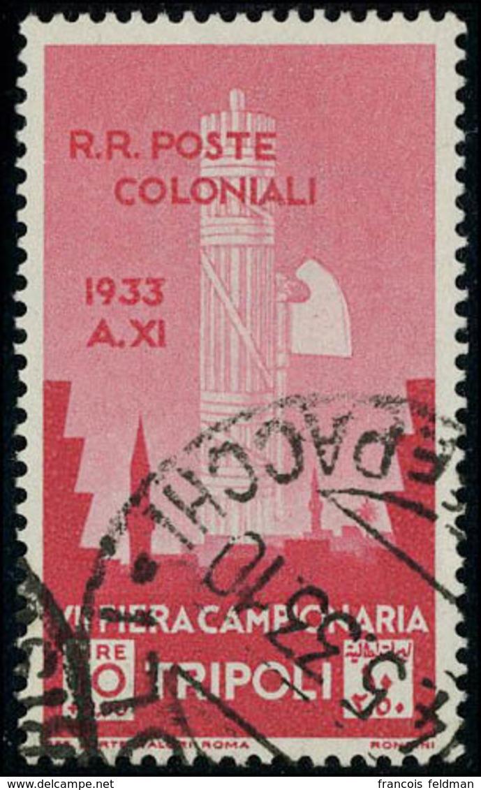 Oblitéré N° 135/41, La Série 7ème Foire De Tripoli, T.B. Sassone Libia N° 118/24 : 1000 € - Unclassified