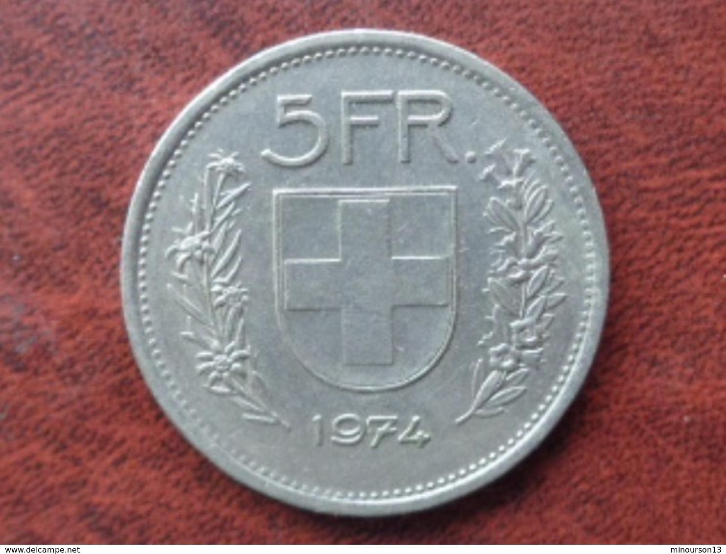 SUISSE 5 FRANCS 1974 - Suisse
