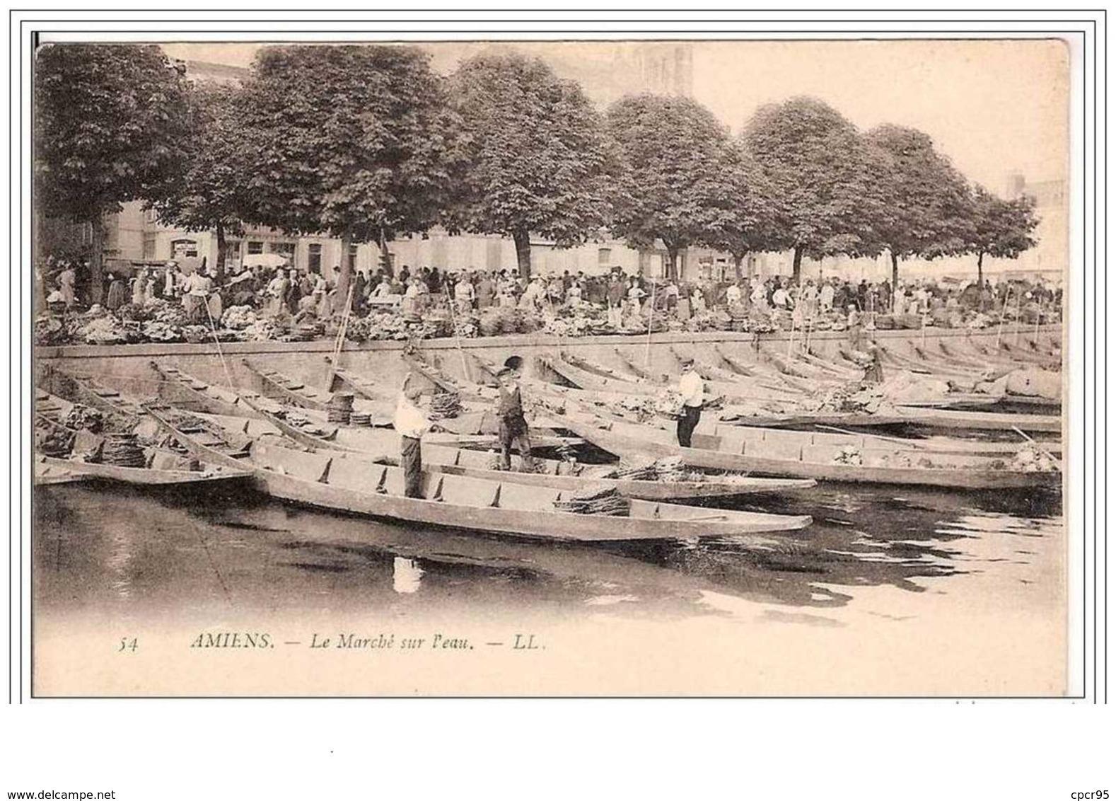 80.AMIENS.LE MARCHE SUR L'EAU. - Amiens