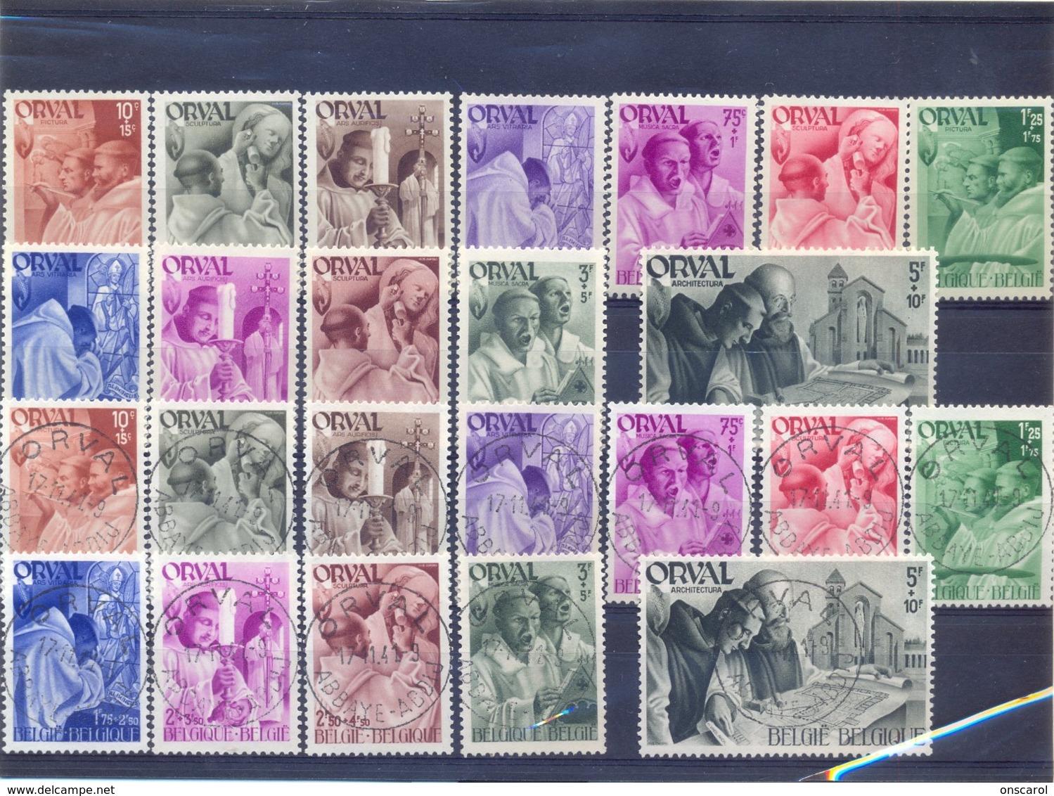 Nrs. 556/567 Postgaaf MNH + Prachtig Gestempeld VIERDE ORVAL - Ohne Zuordnung