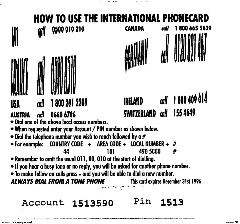 PHONE CARD MARINE LIFE  -  Prépaid - Carte Prépayée  - - Andere Voorafbetaalde Kaarten