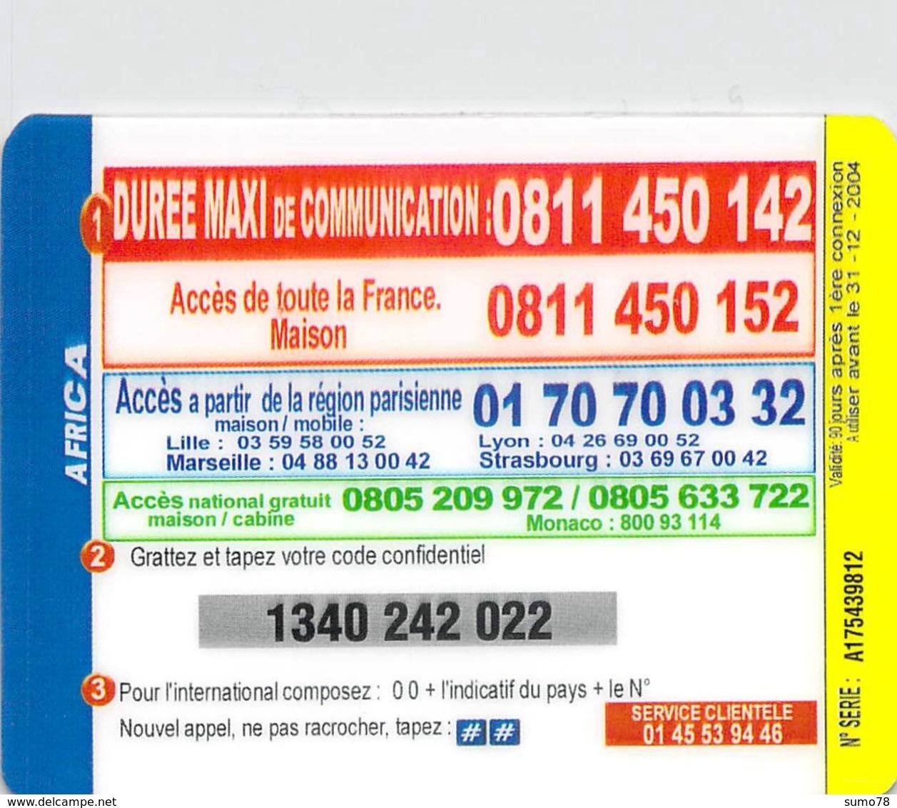 AFROCA IRADIUM  -  Prépaid - Carte Prépayée  - - Frankrijk