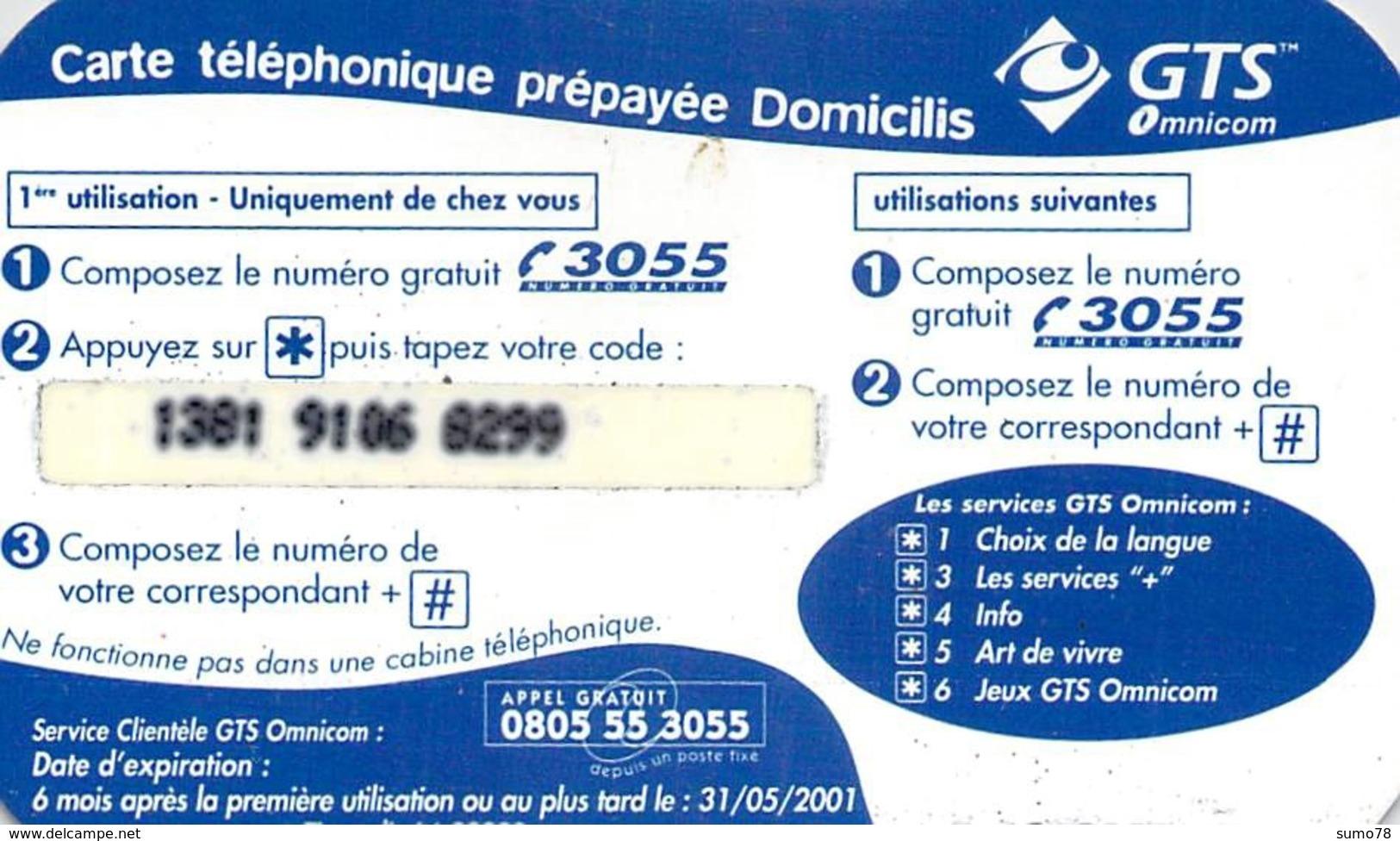 Carte Prépayée  - GTS OMNICOM  -  Prépaid - Frankrijk