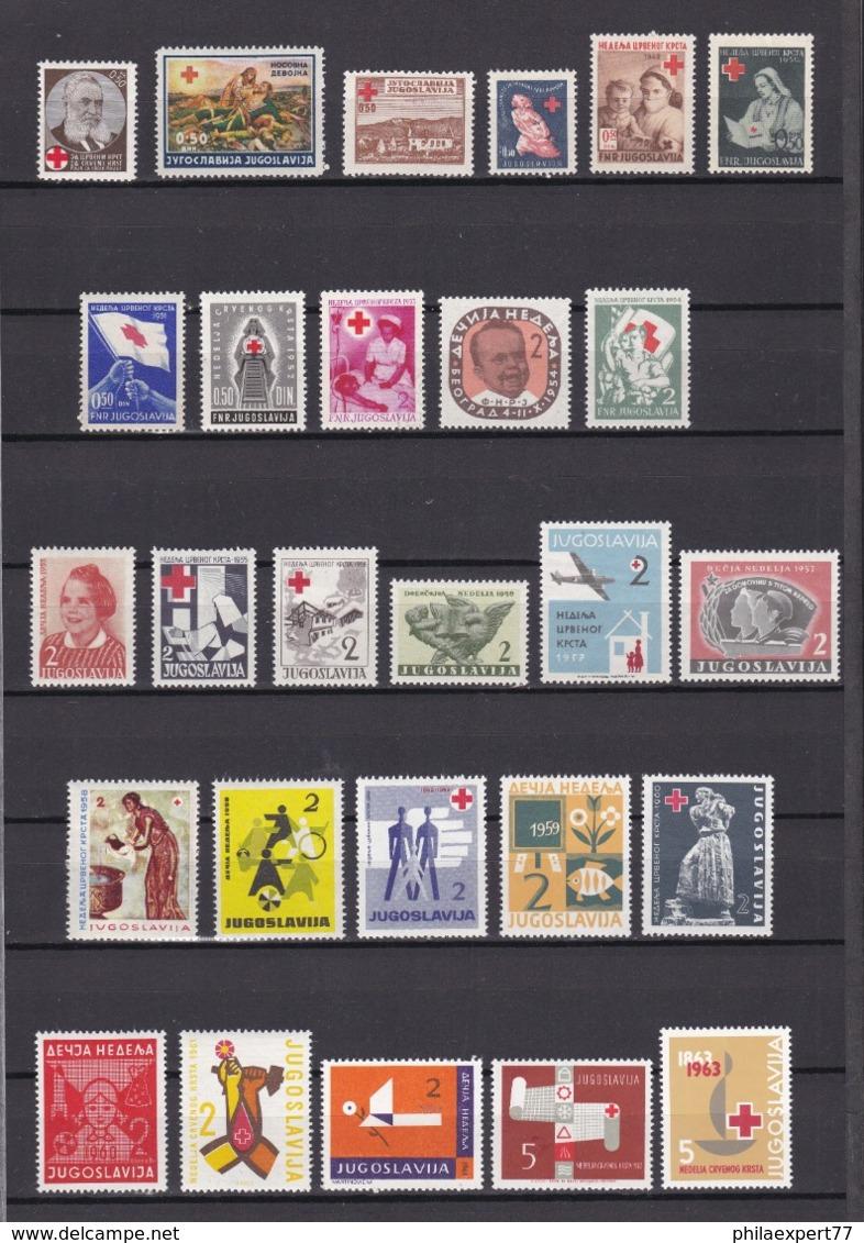Jugoslawien - Zwangszuschlagsmarken - 1936/63 - Sammlung - Ungebr./Postfrisch - Dienstpost