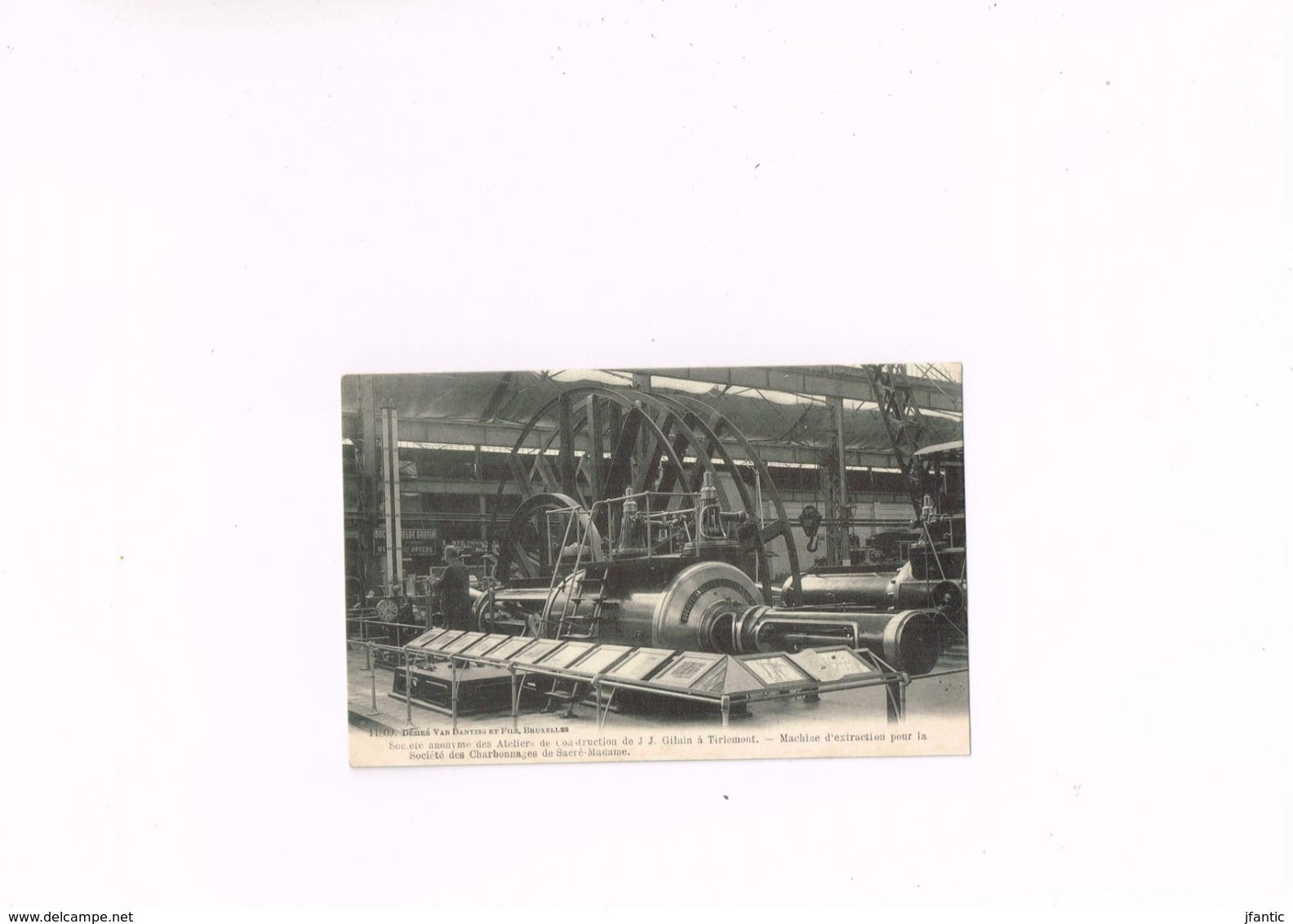 Société Anonyme Des Ateliers De Constructions J.J Gilain à Tirlemont Machine D'extraction Pour La Société Des Charbonnag - Tienen