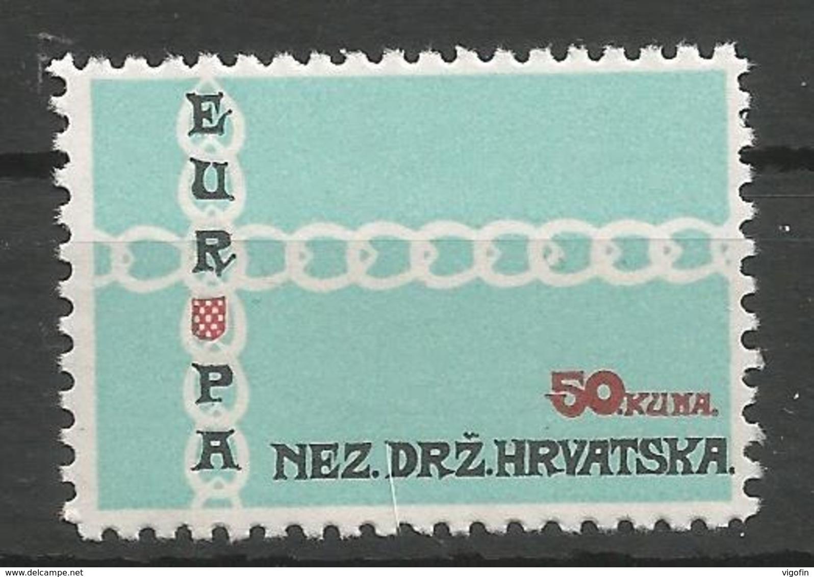 HR 1971 EUROPA CEPT, CROATIA HRVATSKA- EMISSONE IN EXILIO, 1 X 1v, MNH - Croatia