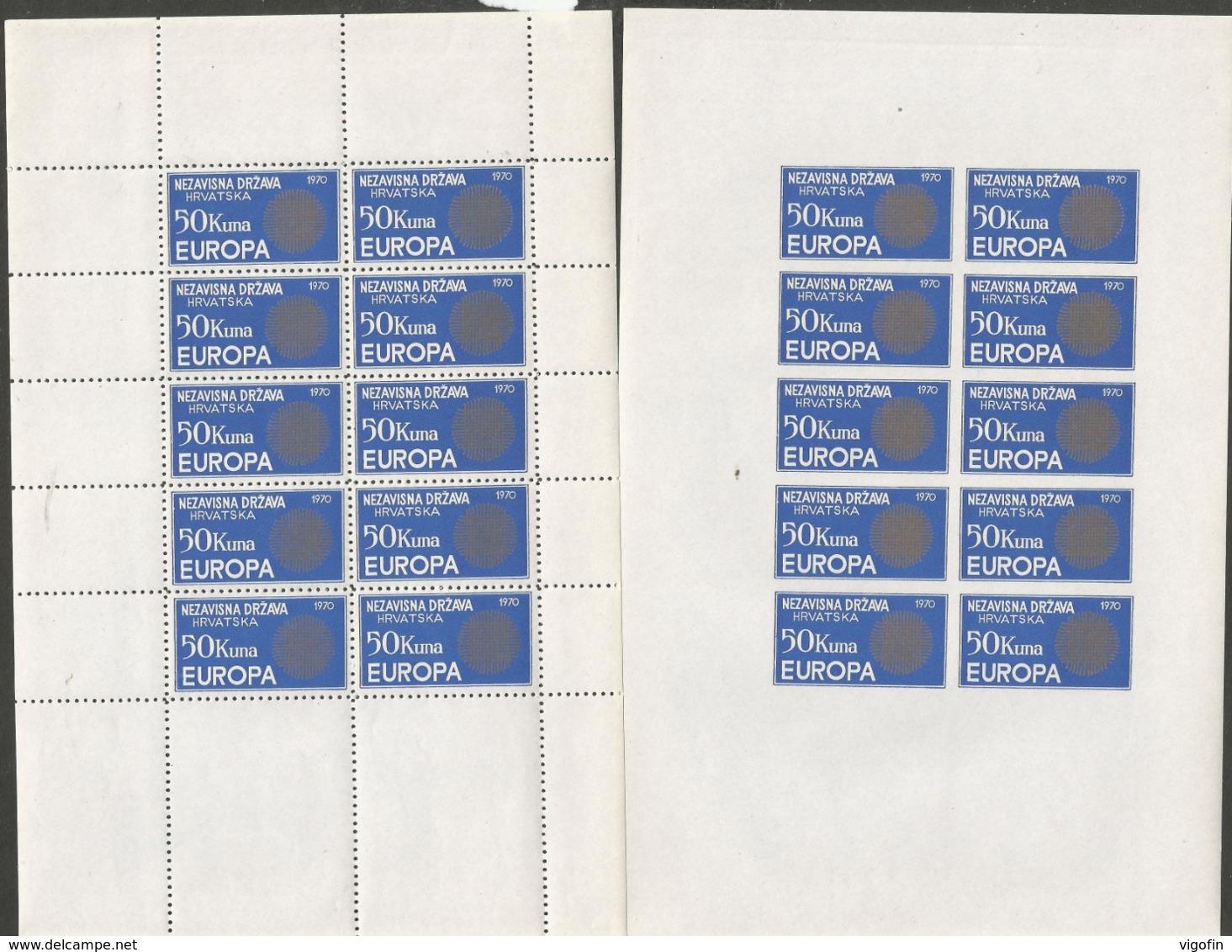 HR 1972 EUROPA CEPT, CROATIA HRVATSKA- EMISSONE IN EXILIO, 2MS, MNH - Kroatien