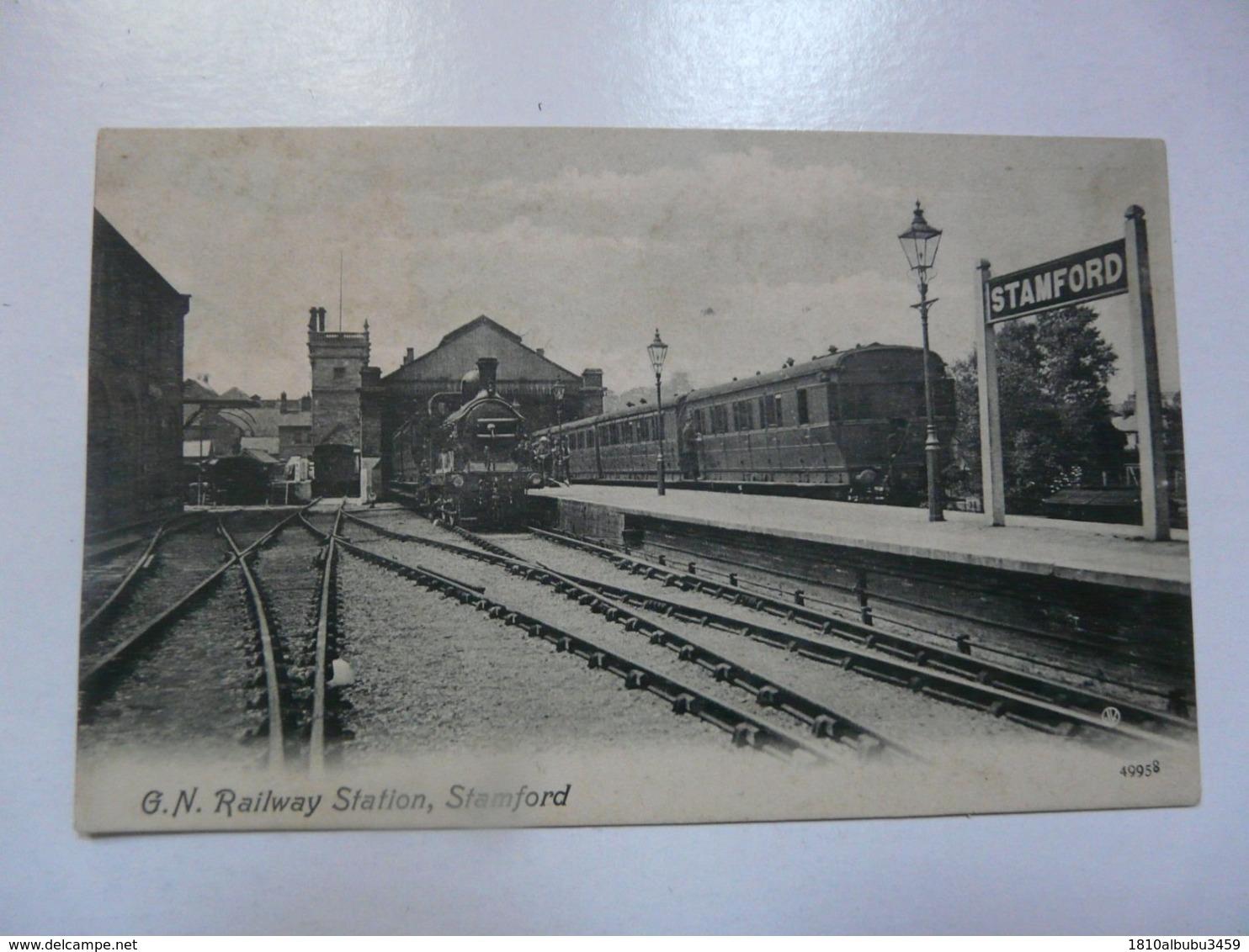 CPA ROYAUME UNI - STAMFORD : Railway Station (trains) - England
