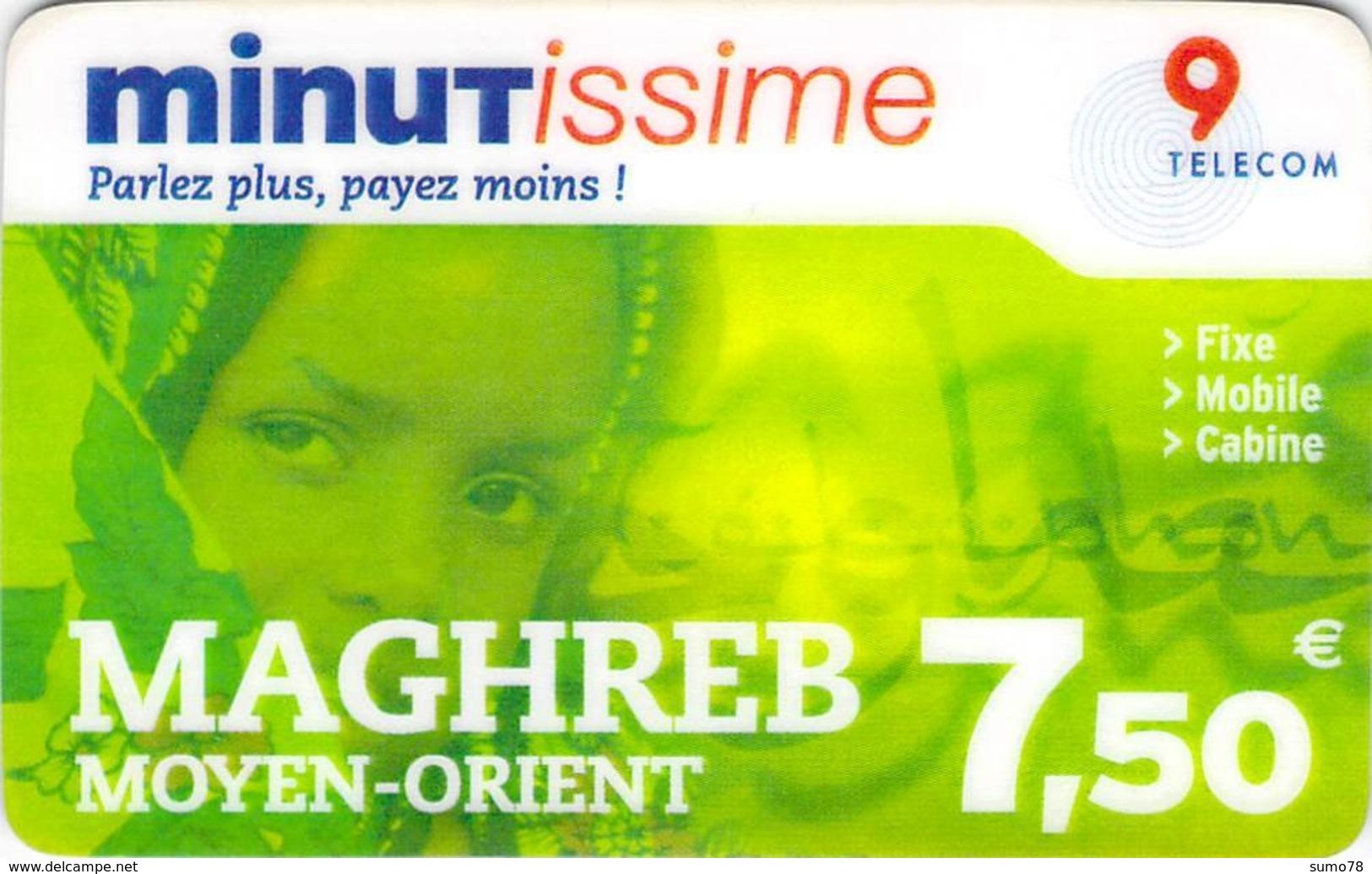 Carte Prépayée  - MINUTISSIME MAGHREB   -  Prépaid - Frankrijk