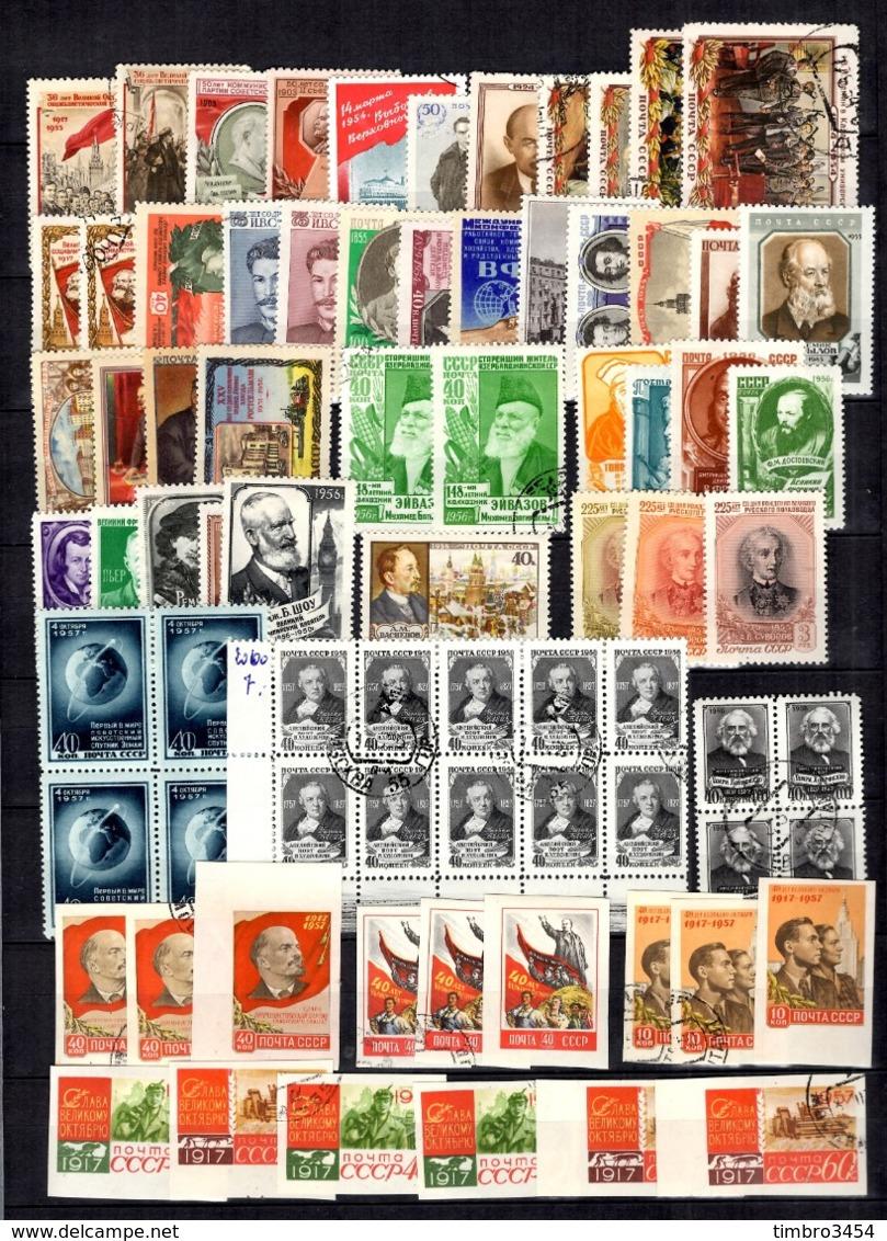Russie Belle Collection Neufs **/* Et Oblitérés 1952/1958. Bonnes Valeurs. B/TB. A Saisir! - 1923-1991 USSR
