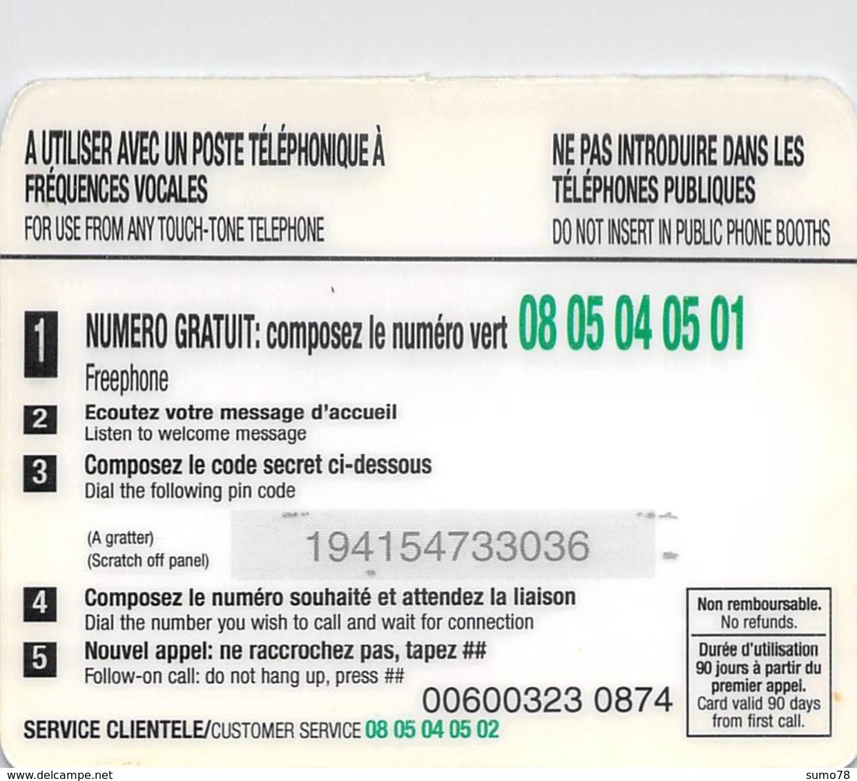 Carte Prépayée  - LE MAGHREB  -  Prépaid  - - Andere Voorafbetaalde Kaarten