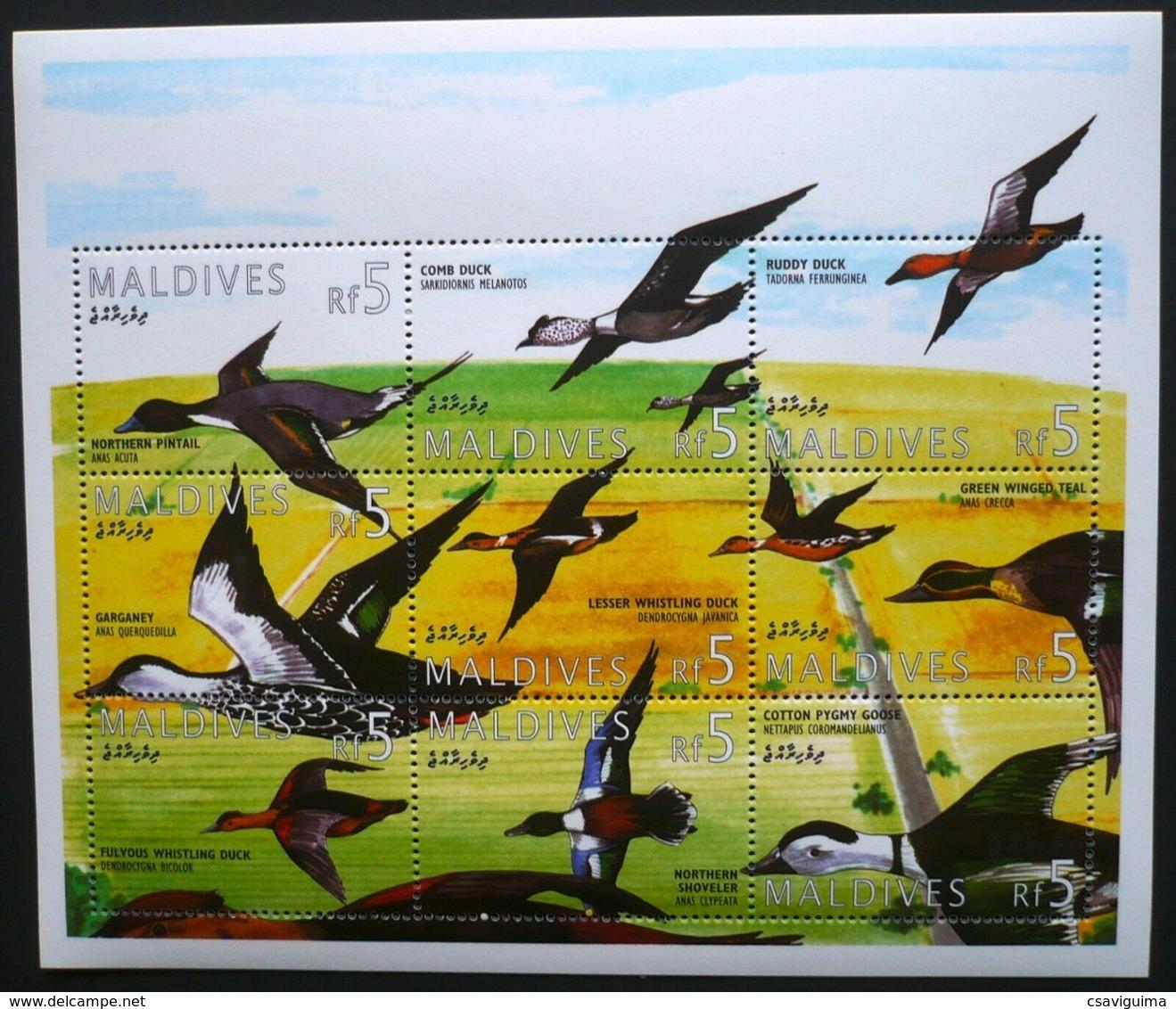 Maldives - 1995 - Birds Enten Ducks - Yv 1956A/J - Vögel
