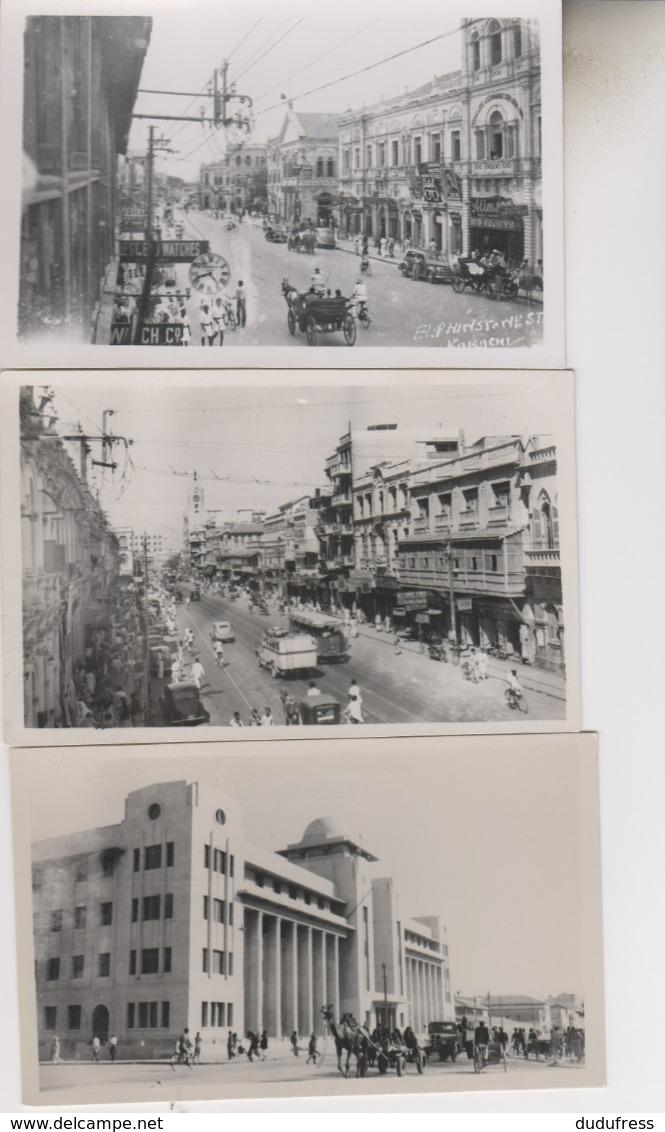 KARACHI   LOT 3 CARTES PHOTOS - Pakistan