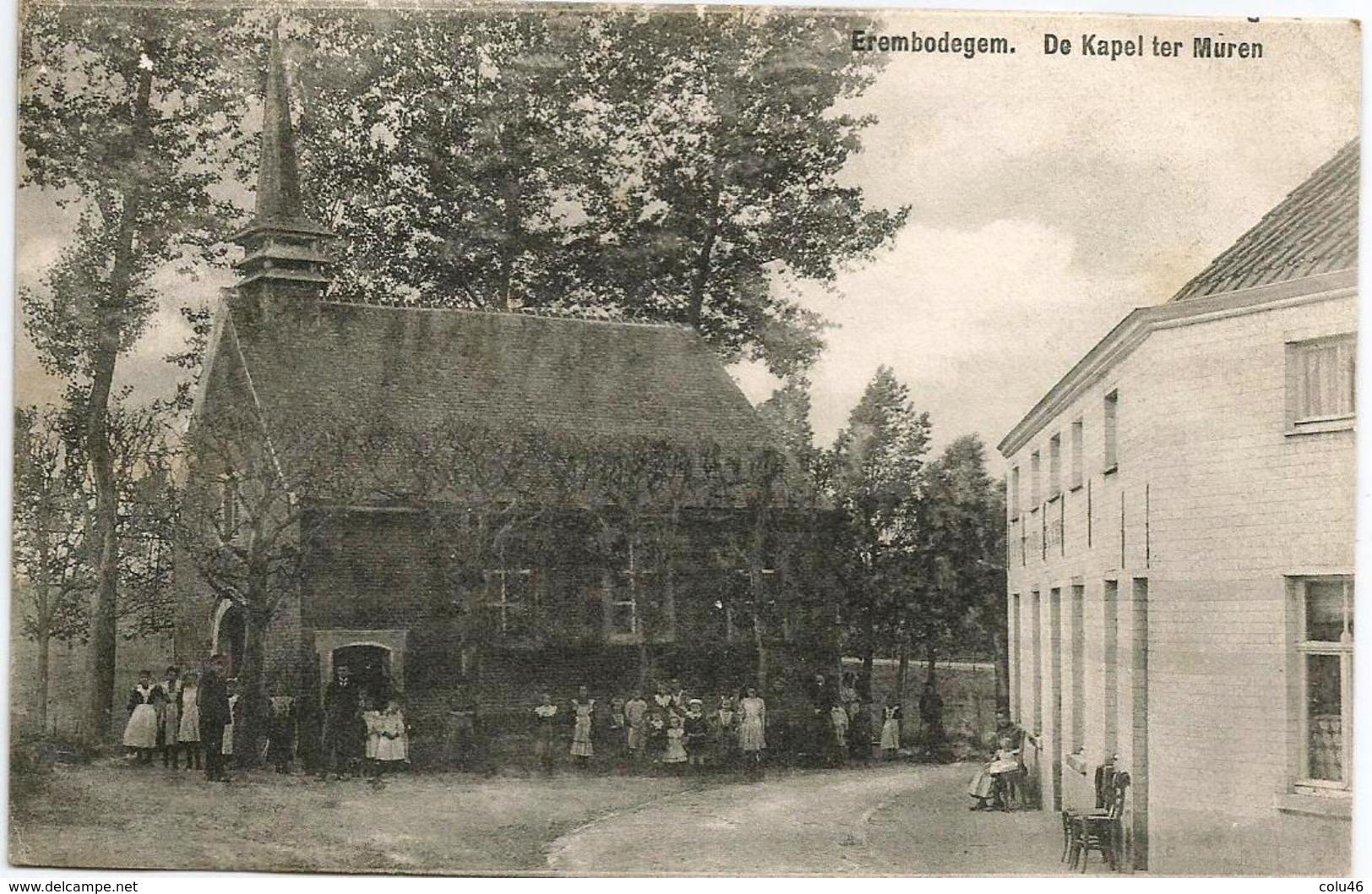 1900 CP Animée Erembodegem Alost Aalst De Kapel Ter Muren - Aalst
