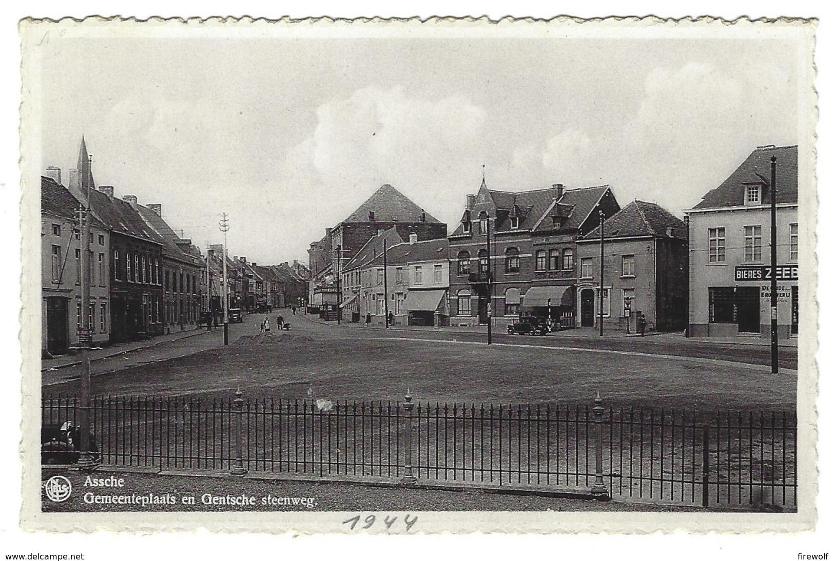 X06 - Assche - Gemeenteplaats En Gentsche Steenweg - Asse